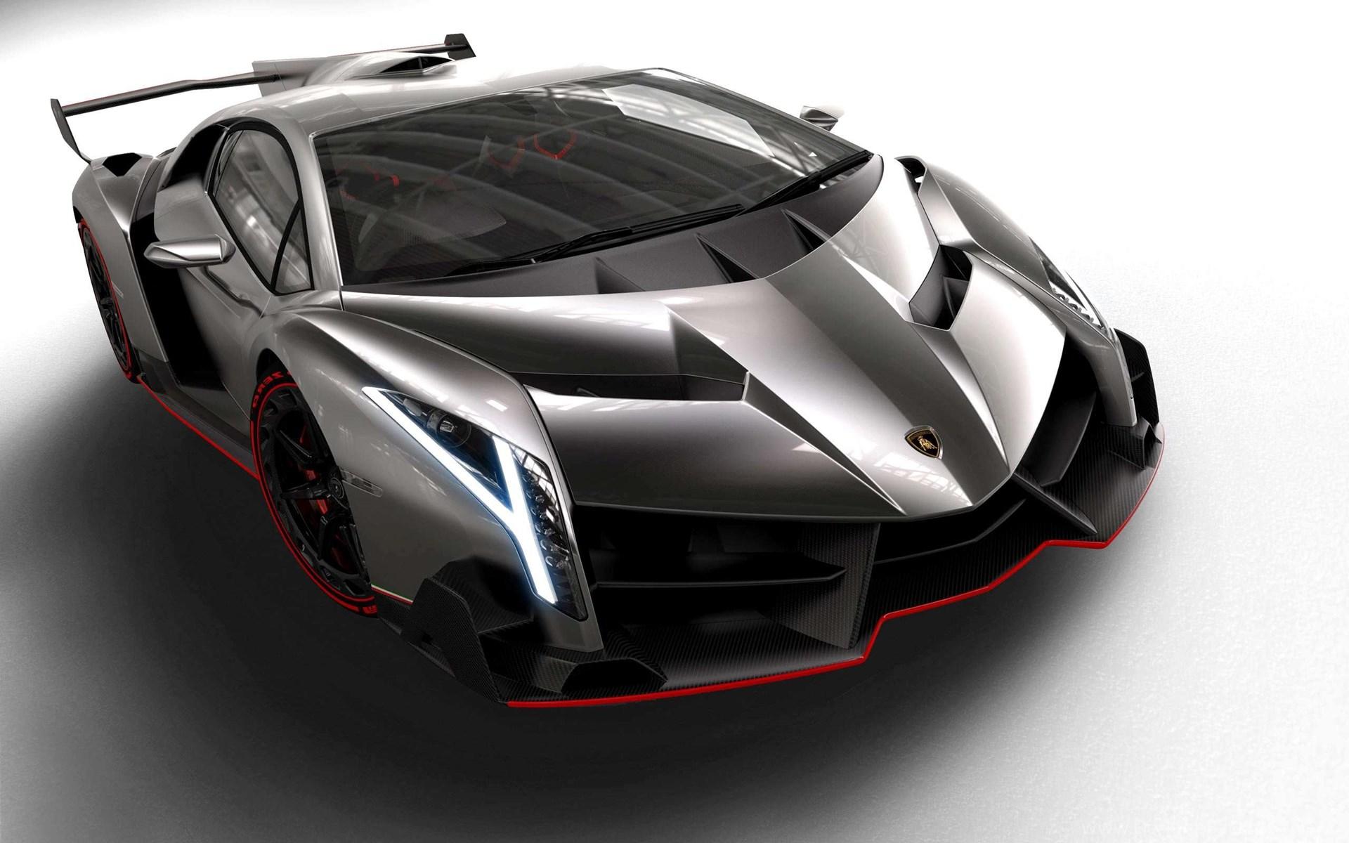 White Lamborghini Veneno Wallpapers Image Desktop Background