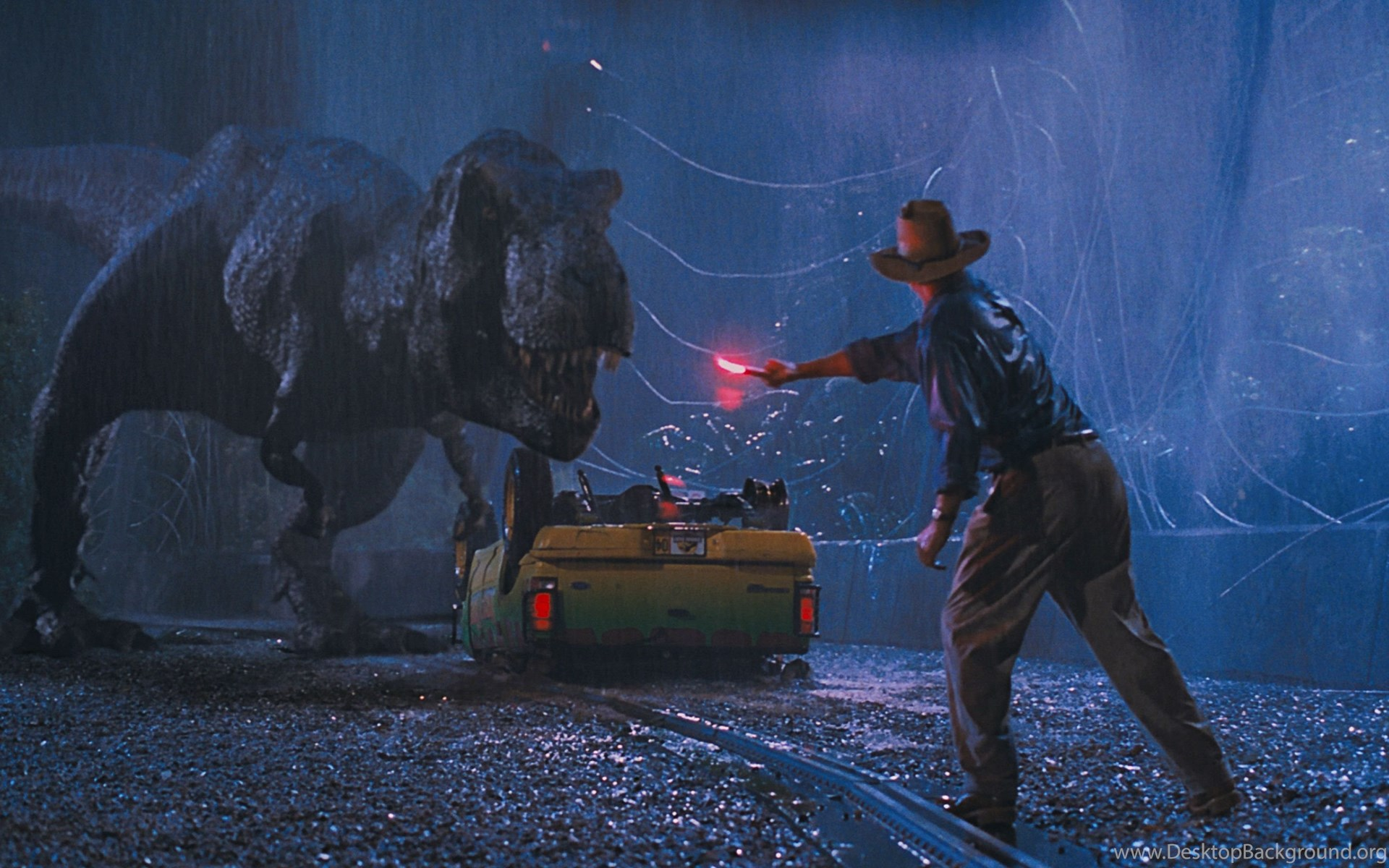 Jurassic Park T Rex Flare Distraction Hd Wallpapers Cool