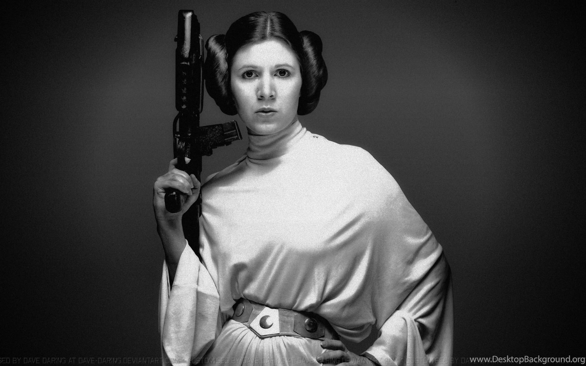 Carrie Fisher Princess Leia Xlvii V3 By Dave Daring On Deviantart Desktop Background