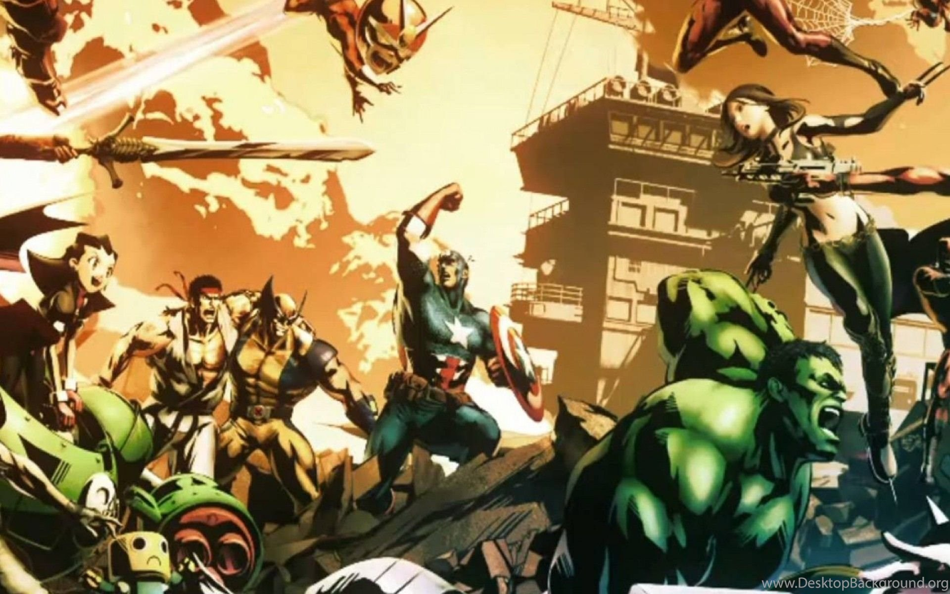 Ultimate Marvel Vs Capcom 3 Boy Wallpapers Yoyowall Com Desktop
