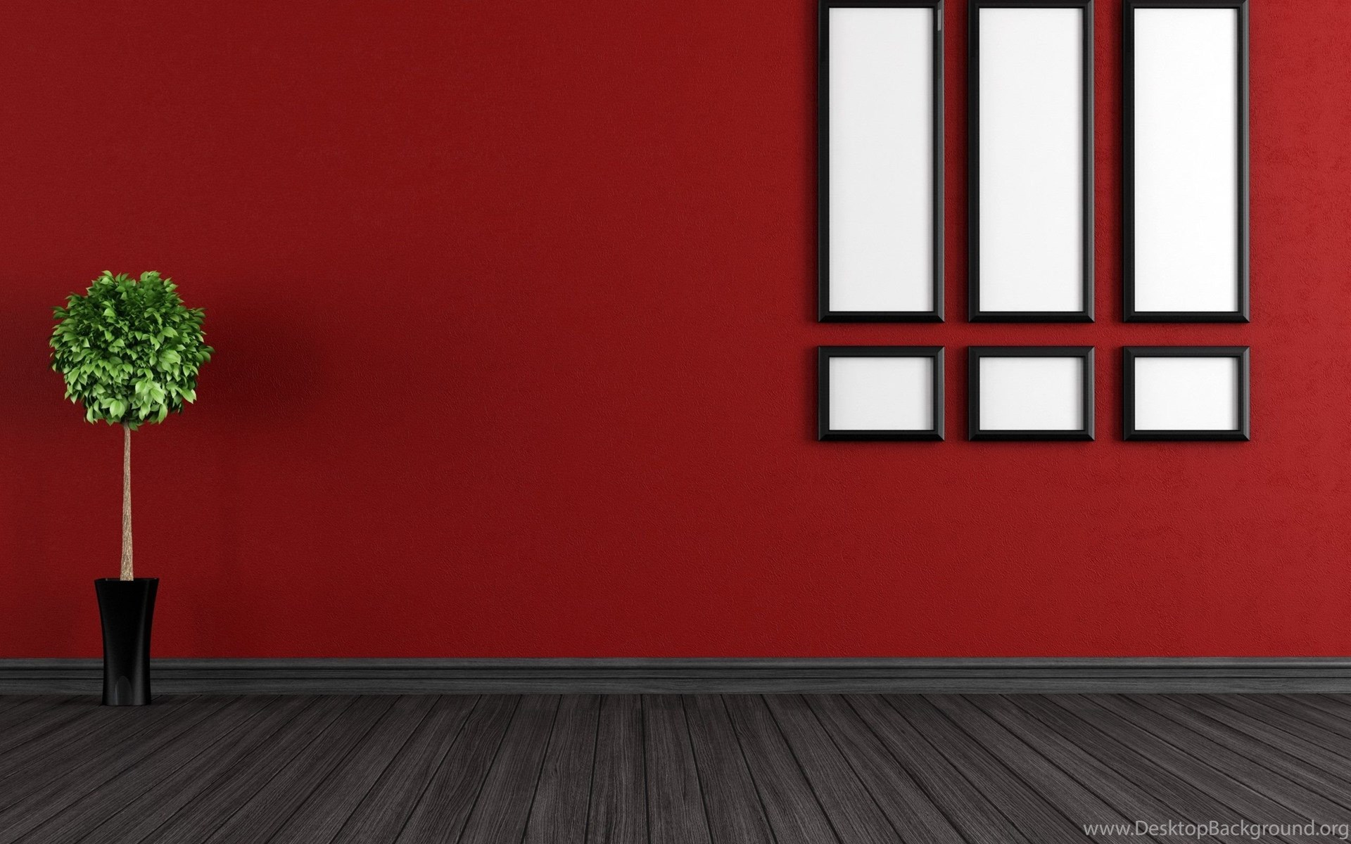Red Walls Room Interior Wallpapers Hd Of Home Decoration Desktop