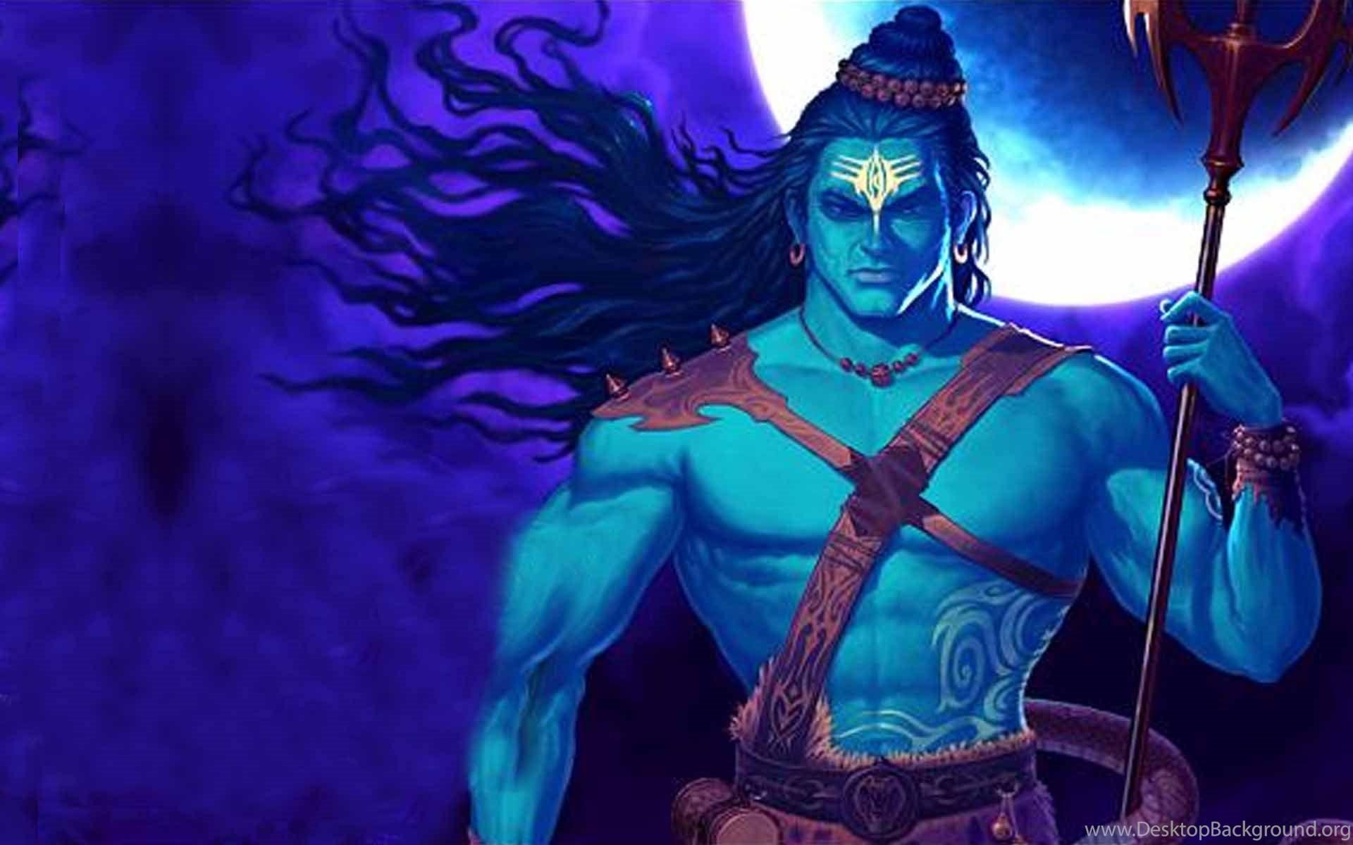 God Shiva Backside Trishul Hd Wallpapers Desktop Background