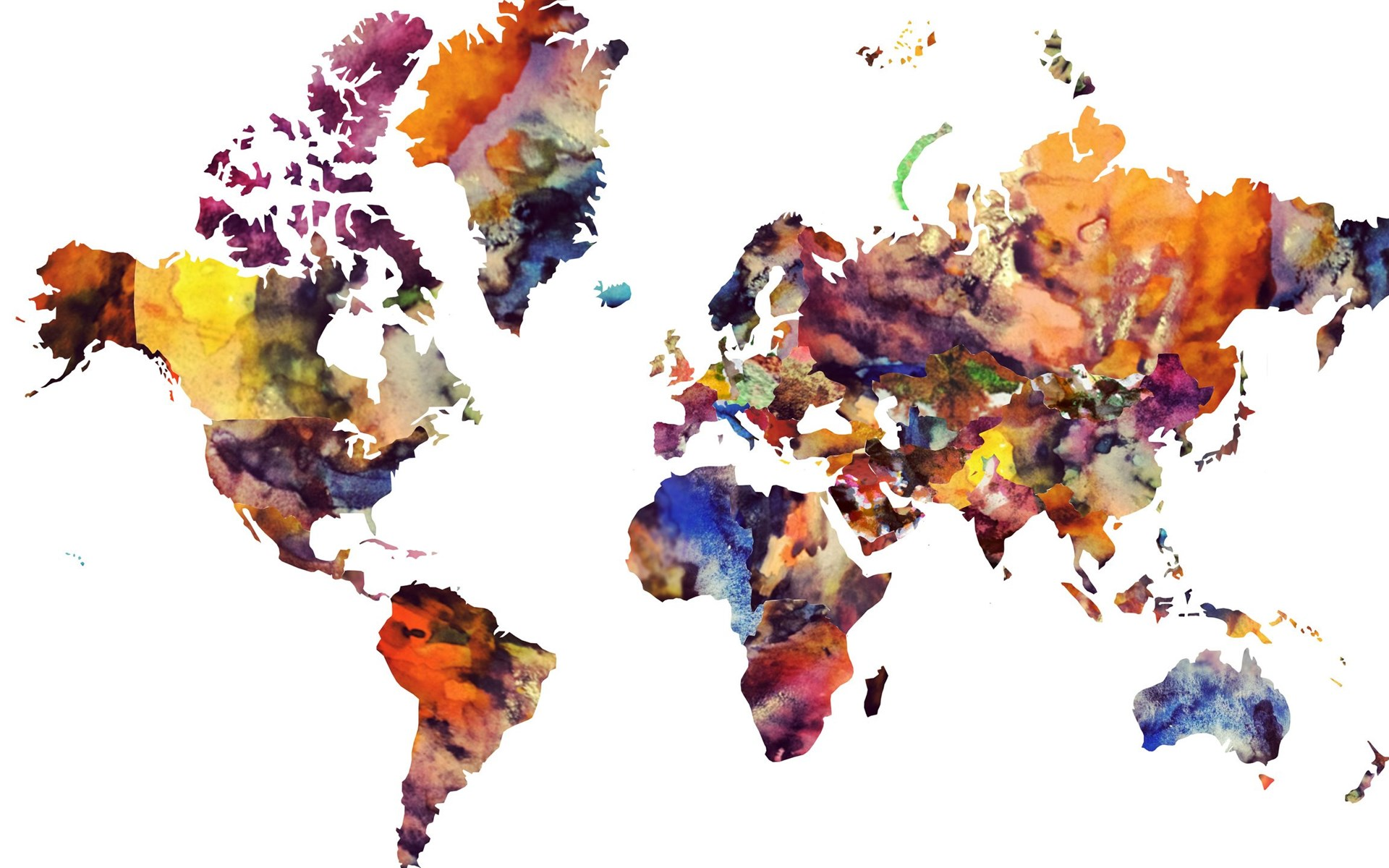 2560x1440 maps watercolour world map modern art world map in widescreen gumiabroncs Image collections