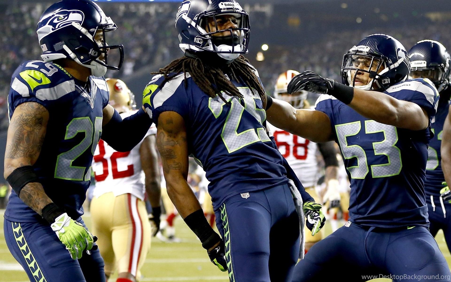 Wallpaper Seahawks American Football Team Match Players Nfl Desktop Background