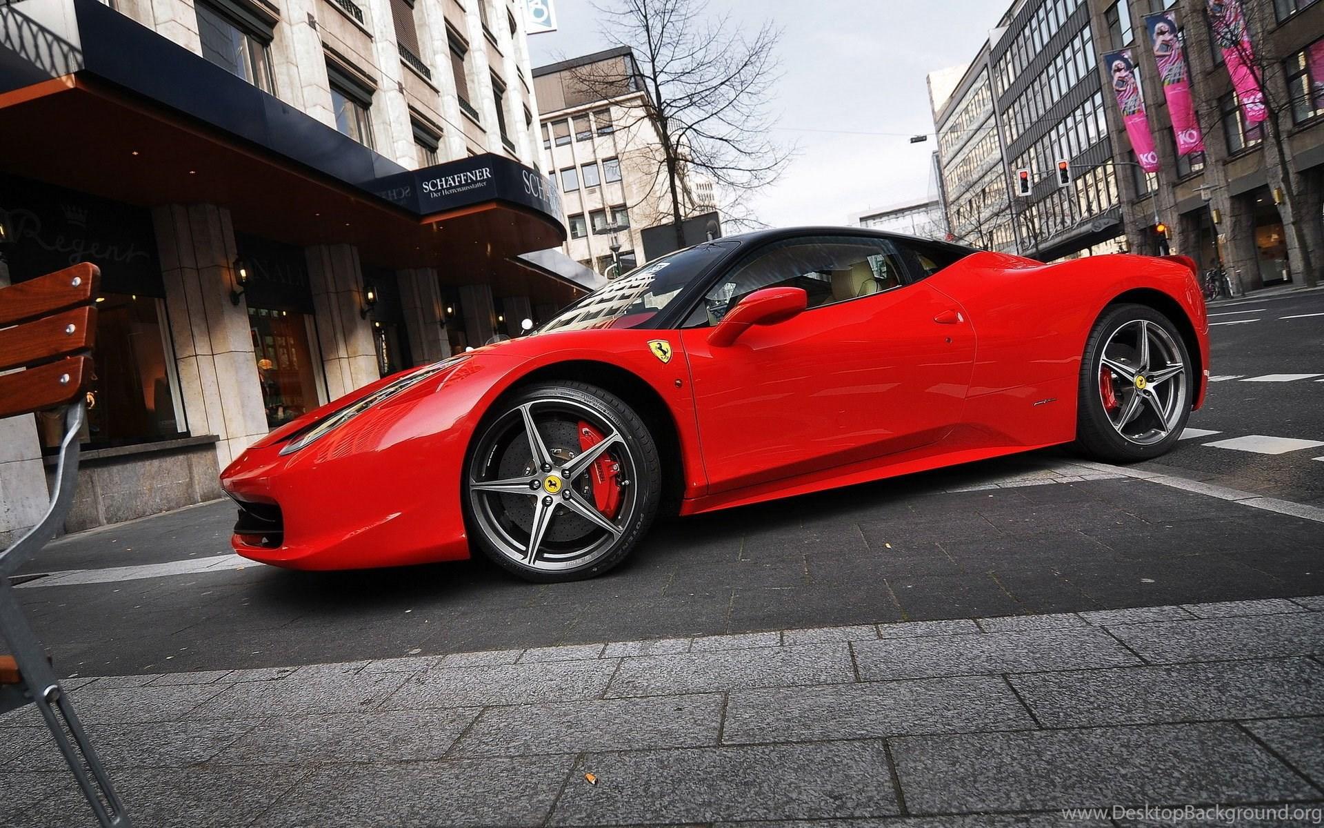 Red Ferrari 458 Italia HD Wallpapers Desktop Background