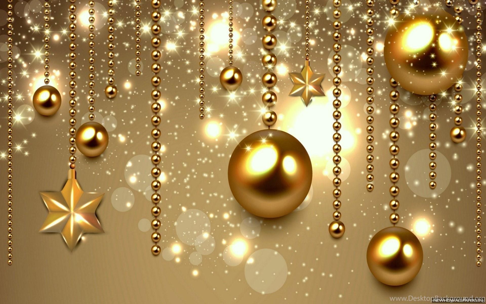 Golden Balls Bokeh Christmas Hd Wallpapers Desktop Background