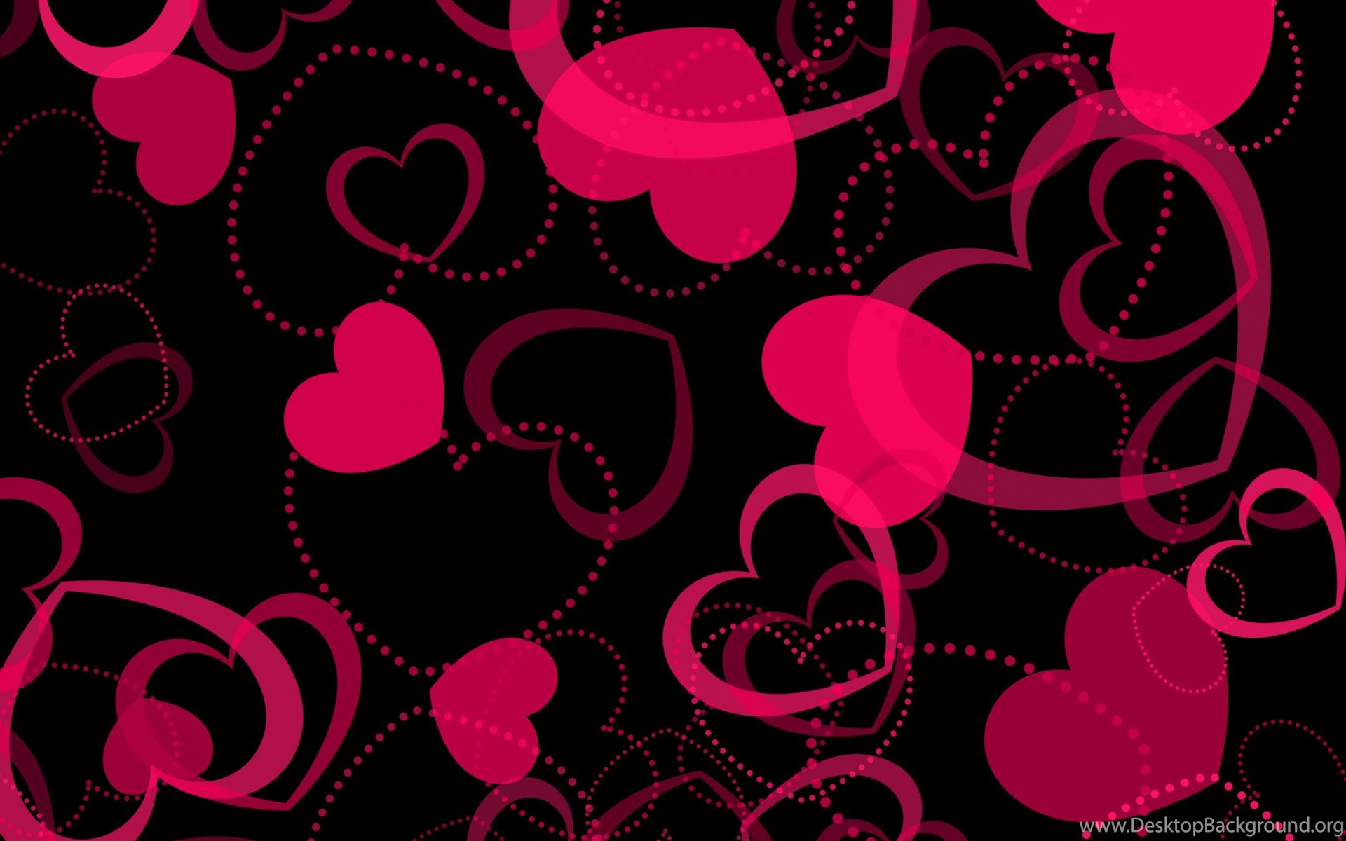 Pink Heart Wallpapers Wallpapers Hd Base Desktop Background