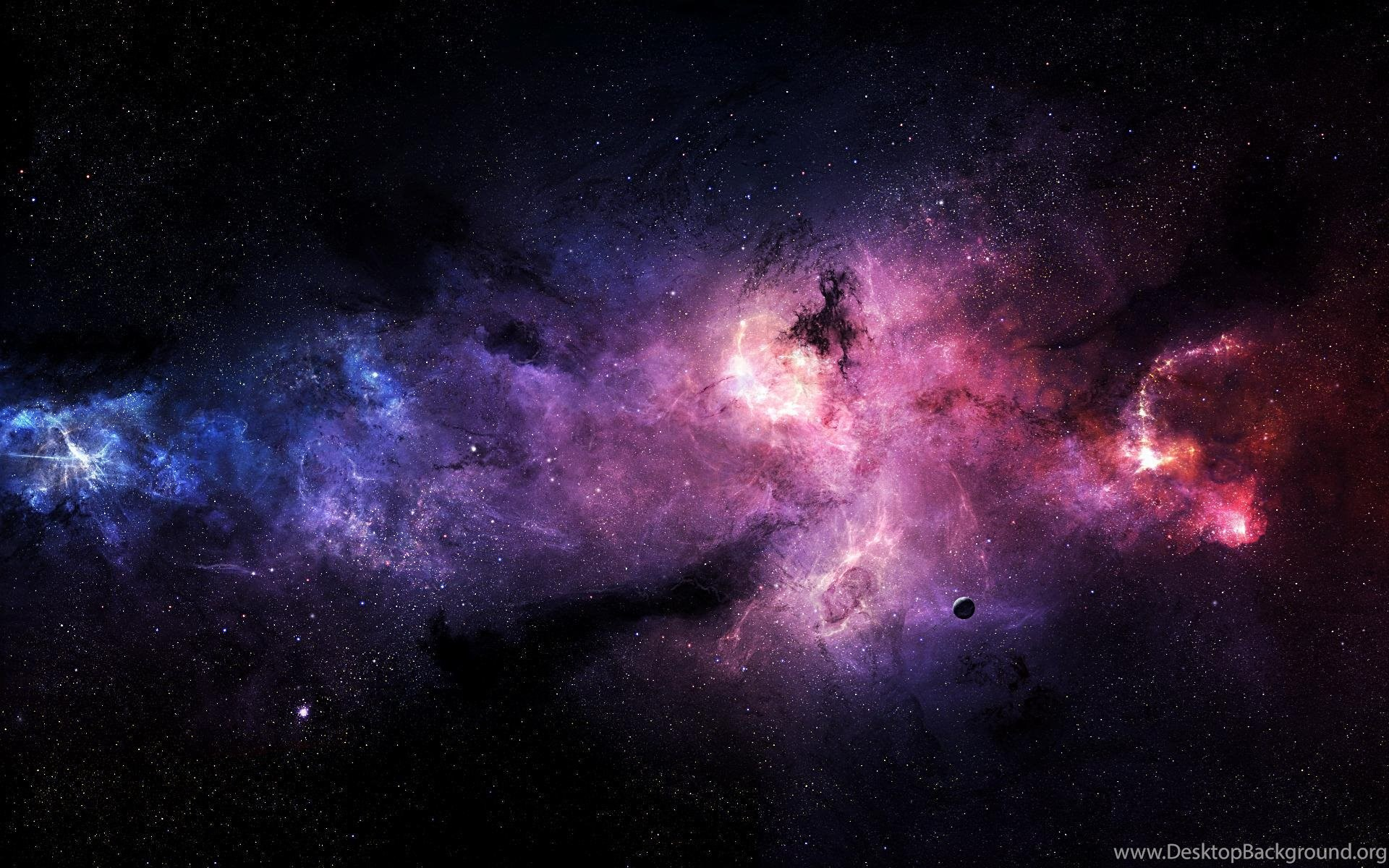 Download Pink And Purple Stars In Space Hd Wallpapers Desktop