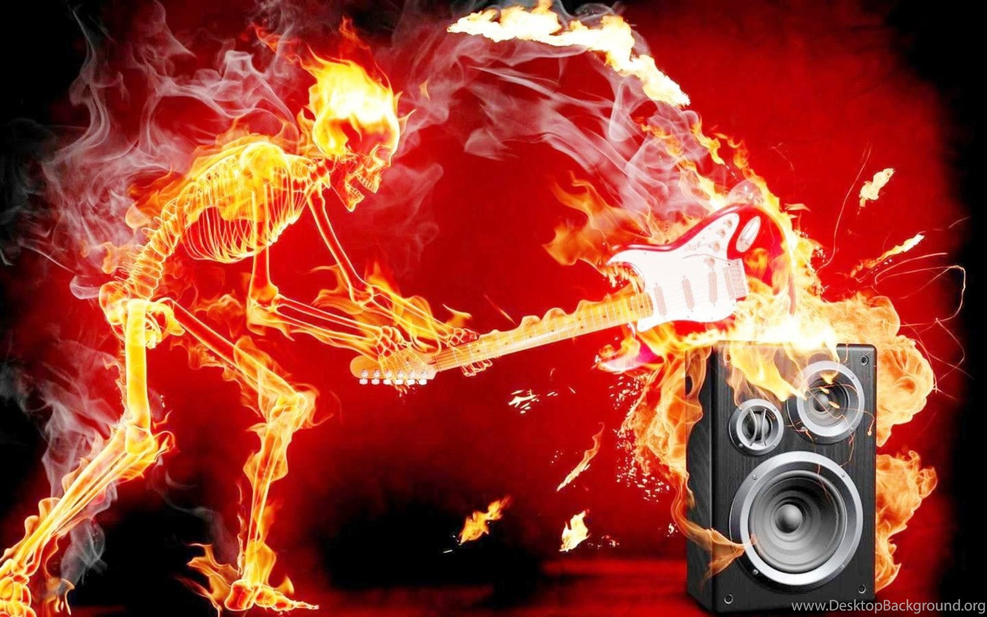 Cool Flaming Skull Wallpapers Best Desktop Background