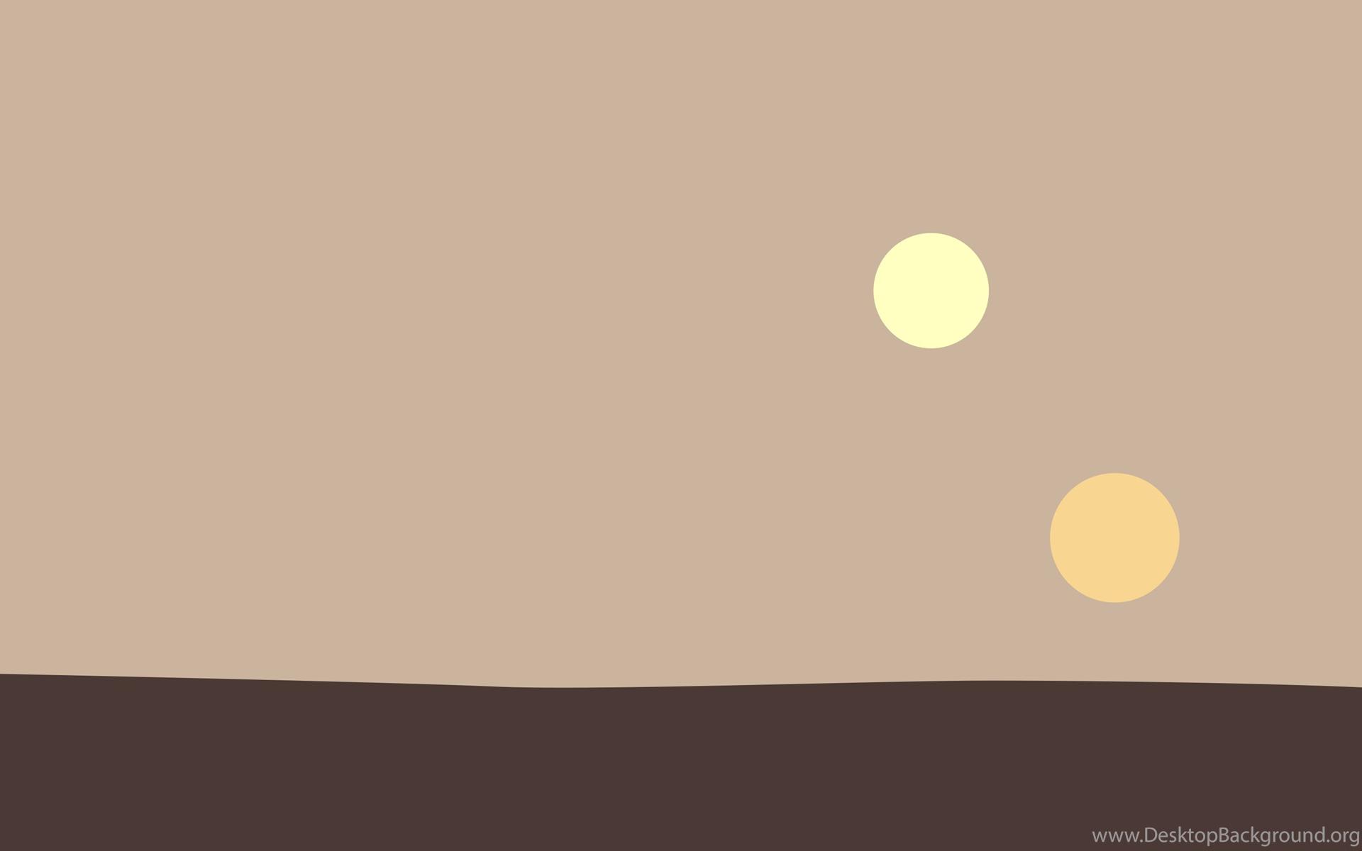 Minimalist Tatooine Wallpapers [2880x1800] : StarWars