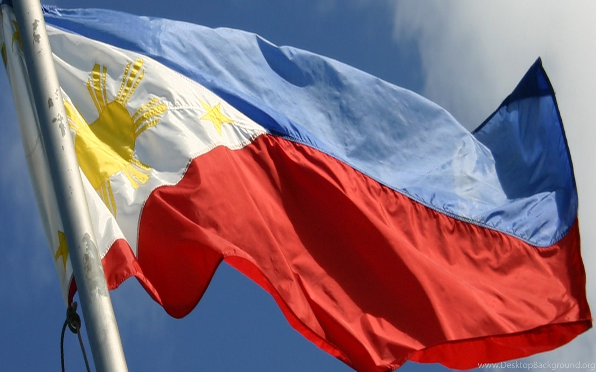 Philippines Flag Waving In The Air Travel Around World