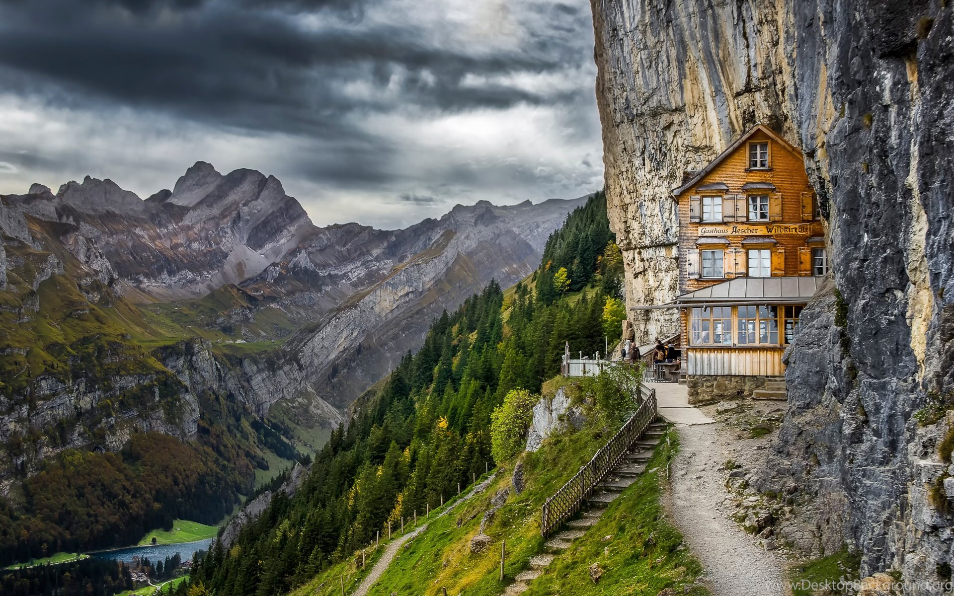 Boarding house in swiss alps wallpapers desktop background - Swiss alps wallpaper ...