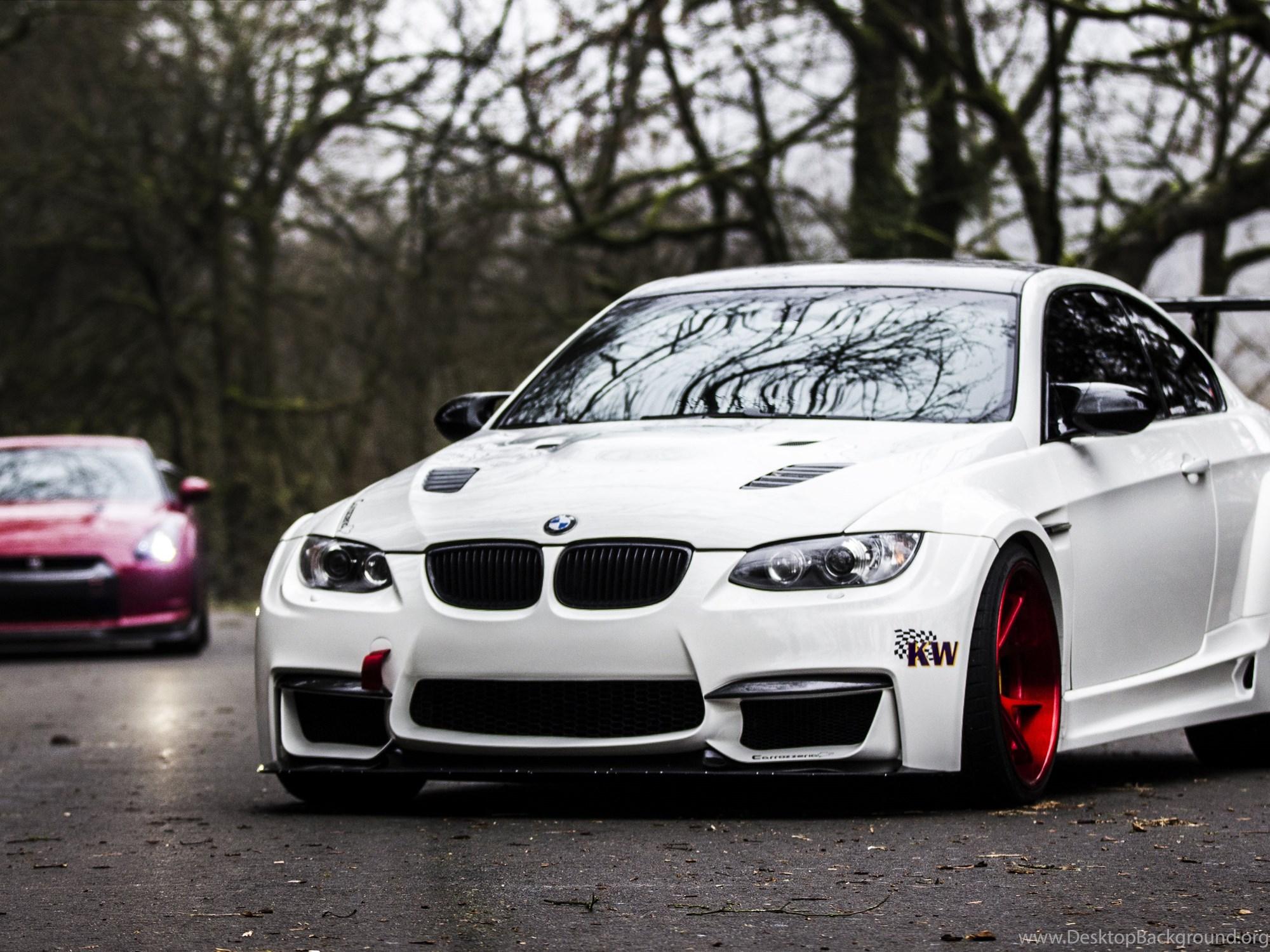 белый спортивный автомобиль bmw m3 e92  № 1015581  скачать