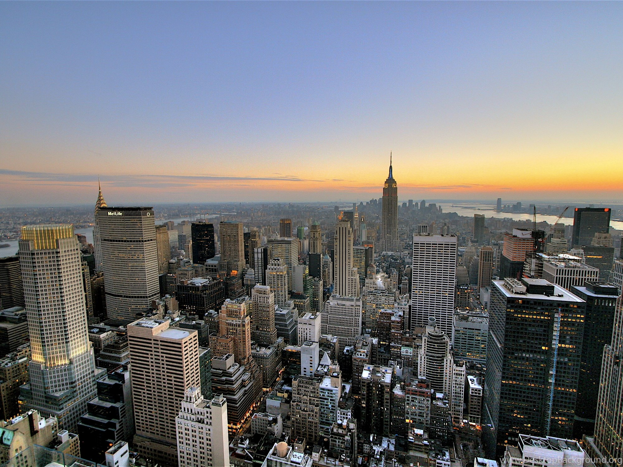Download Mac Wallpapers Hd New York New York City Skyline Sunset