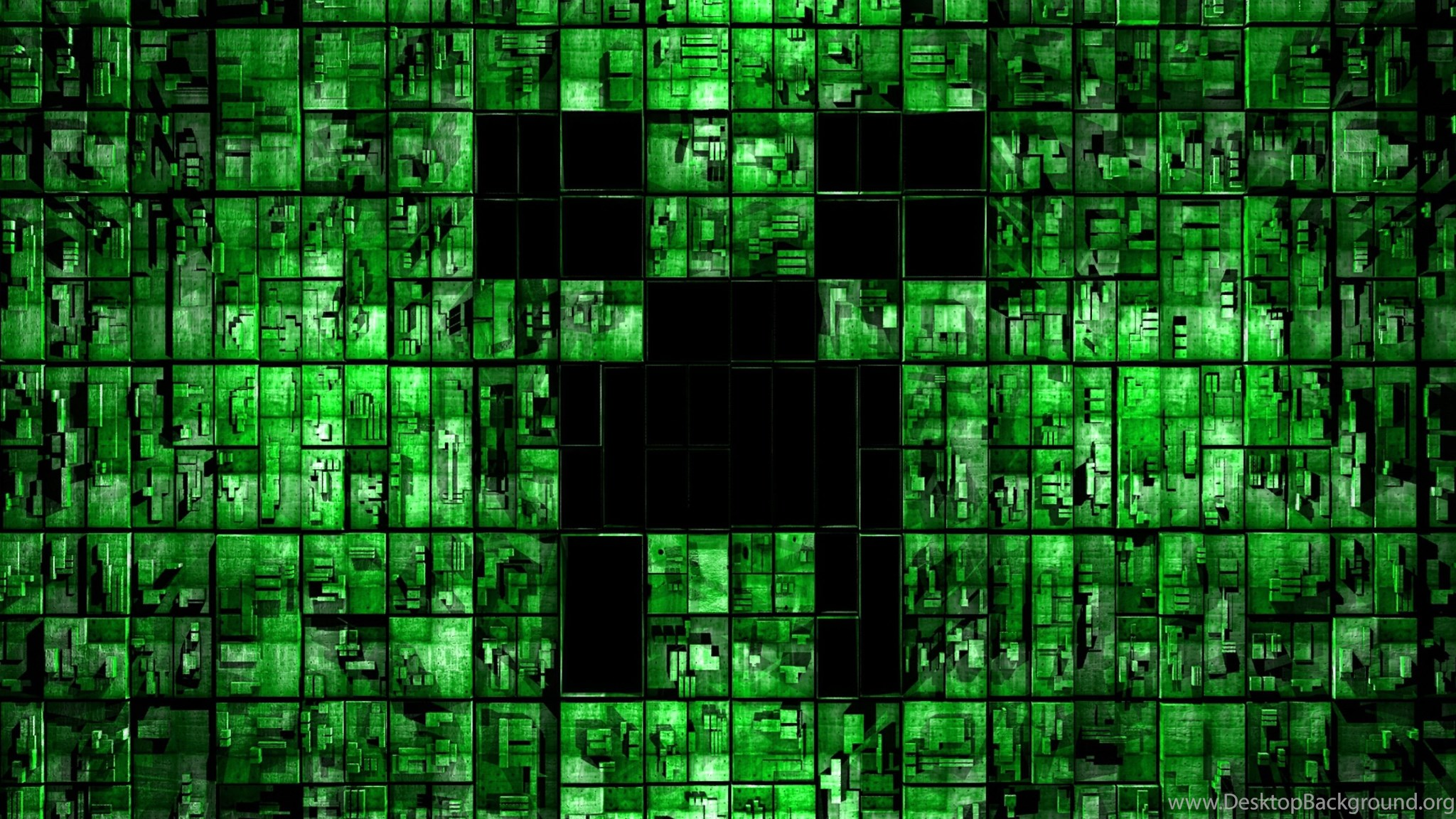 Download HD Minecraft Black And Green Backgrounds Wallpapers