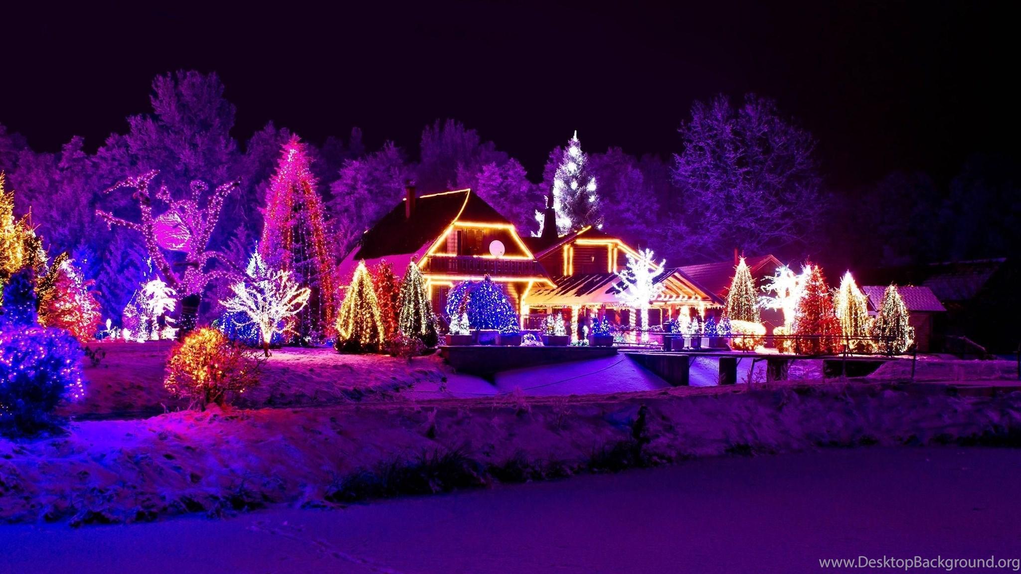 Beautiful Christmas Night City Lights Wallpaper.jpg