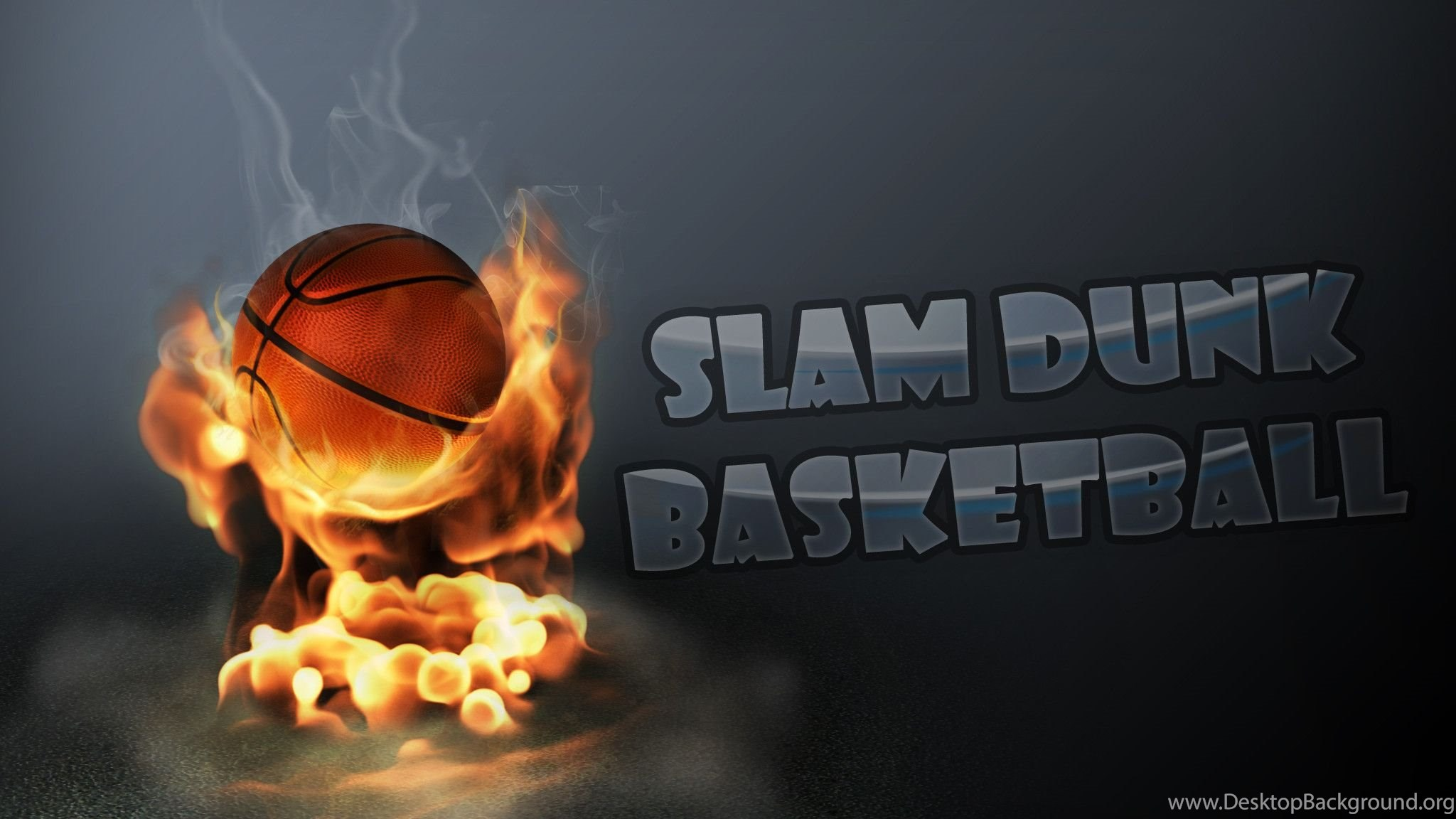 Fire Slam Dunk Basketball Wallpapers Picture 2 Desktop Background