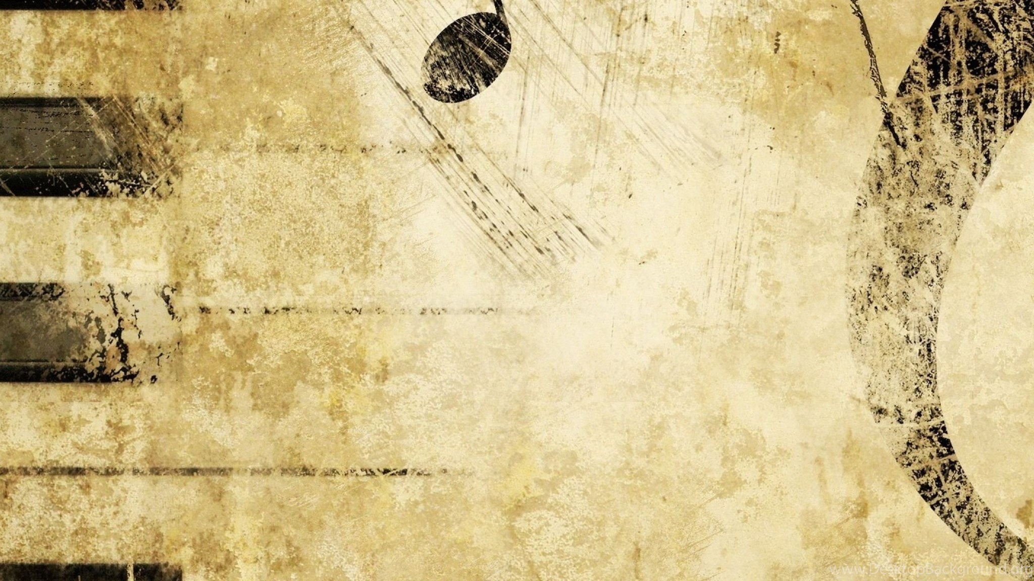 Download Wallpapers 3840x1200 Keys, Treble Clef, Music, Notes Dual ...