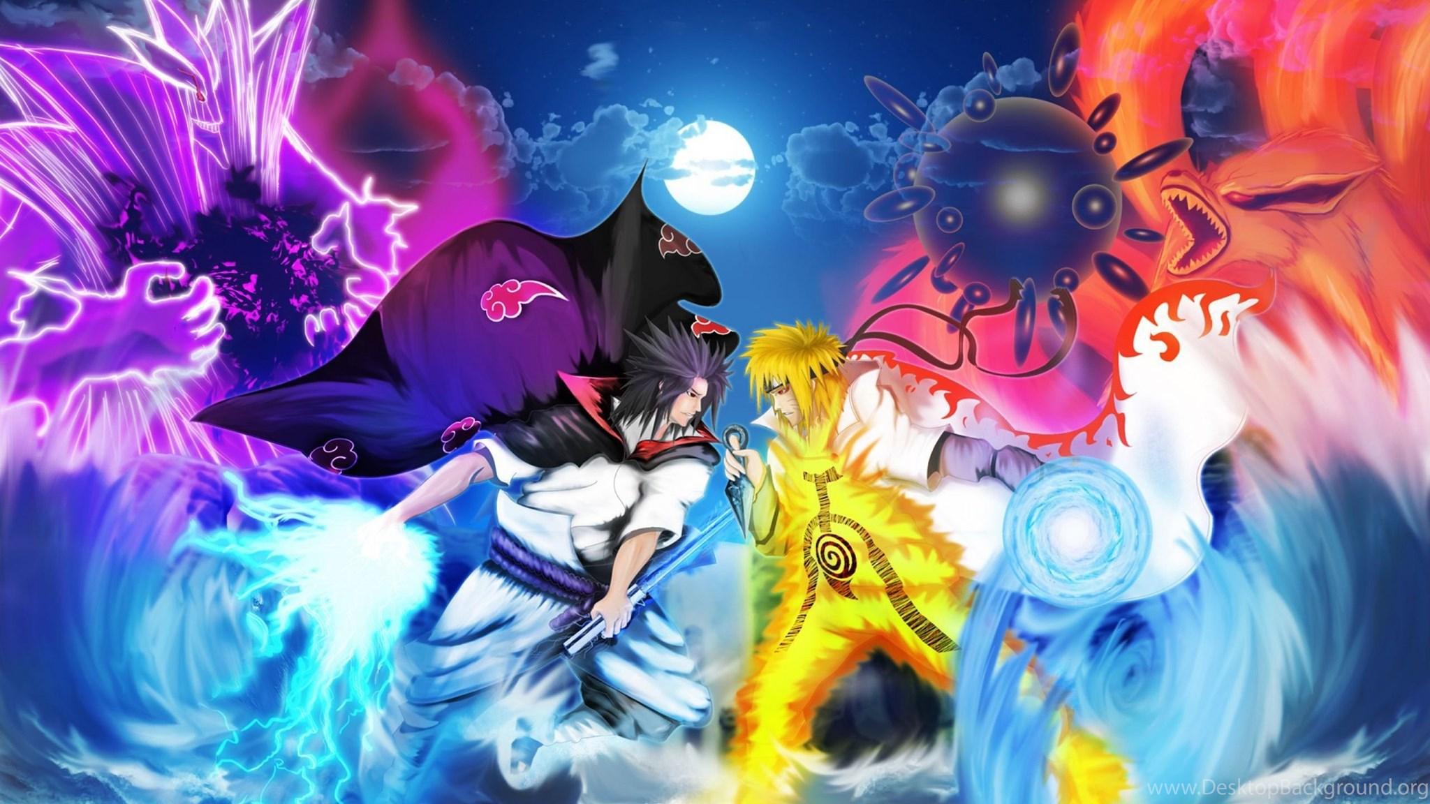 Naruto Vs Sasuke Wallpapers Free Desktop Background