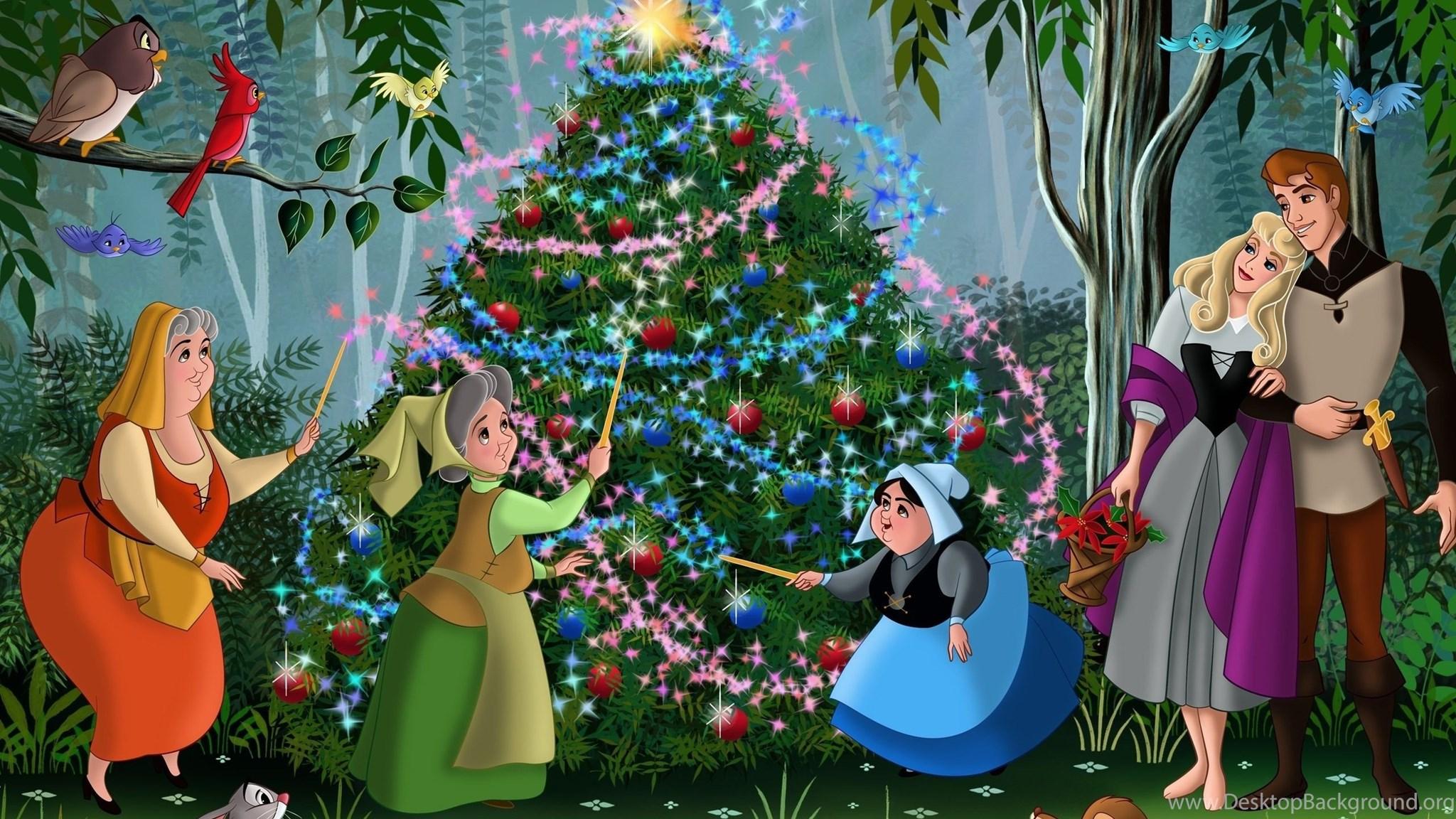 2560x1600 Christmas Tree, Walt Disney, Fairytale, Animated Film ...