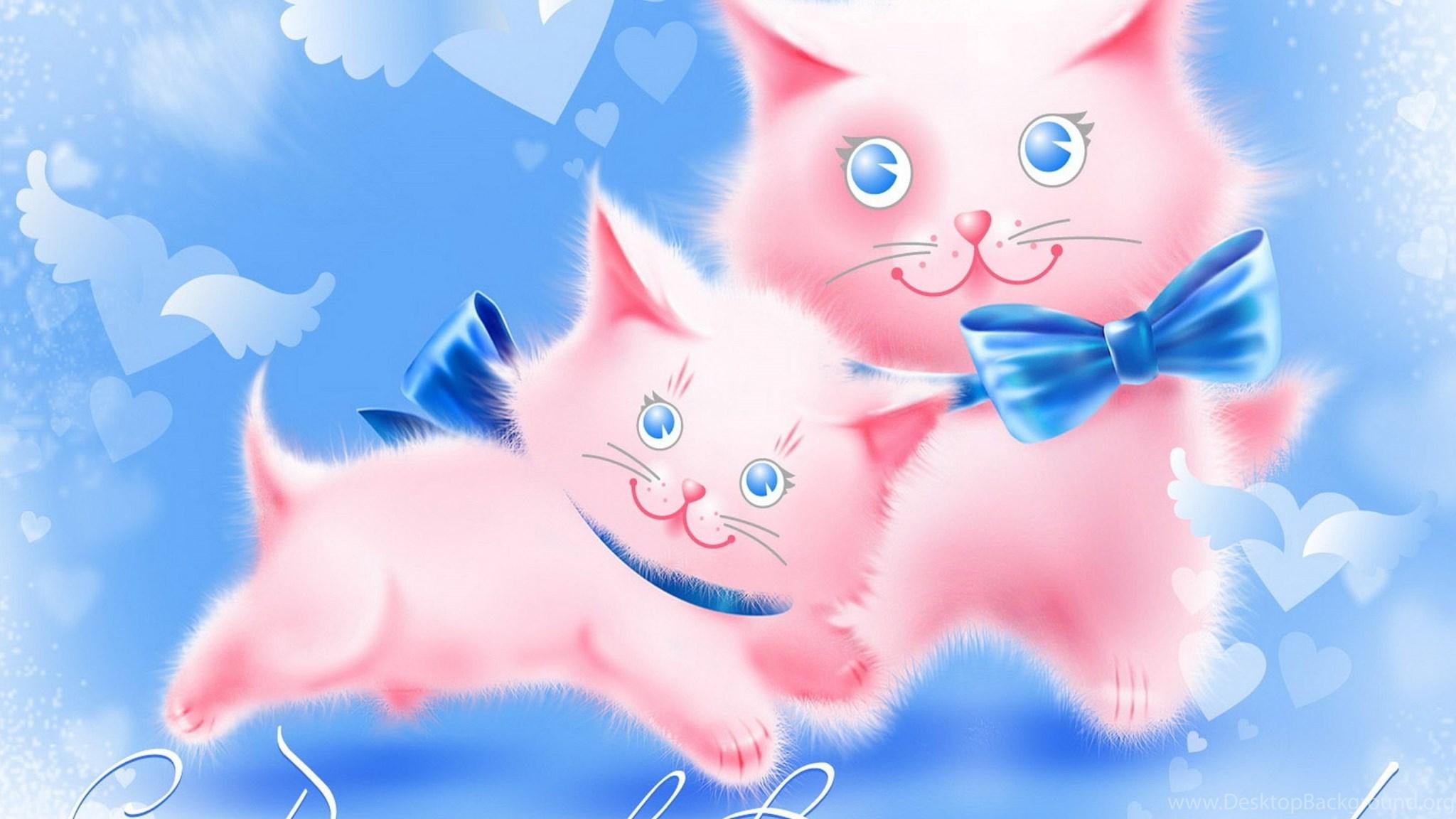 Открытки пожелания с кошками