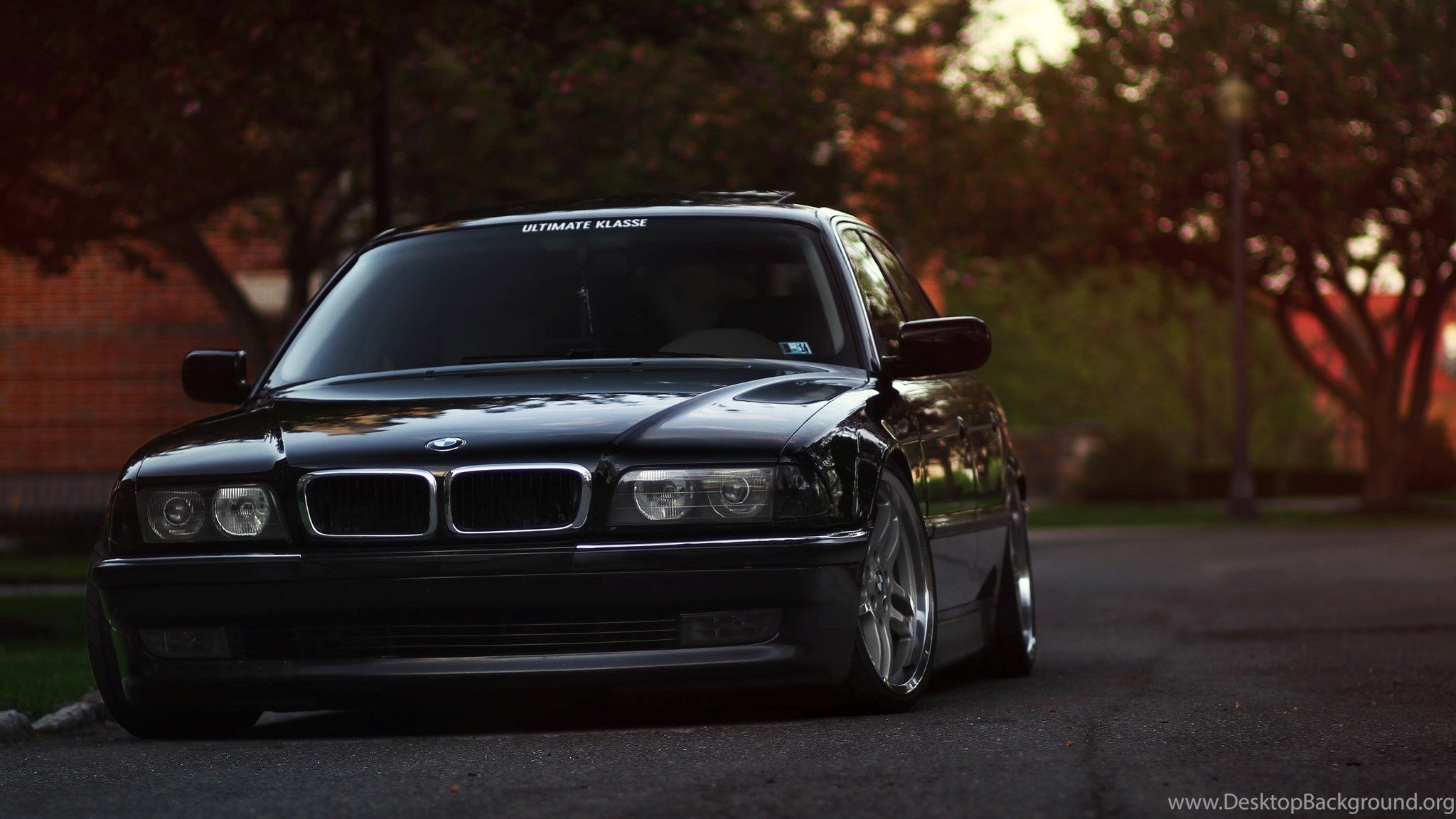 Bmw 7 Series E38 Black Wallpapers Desktop Background