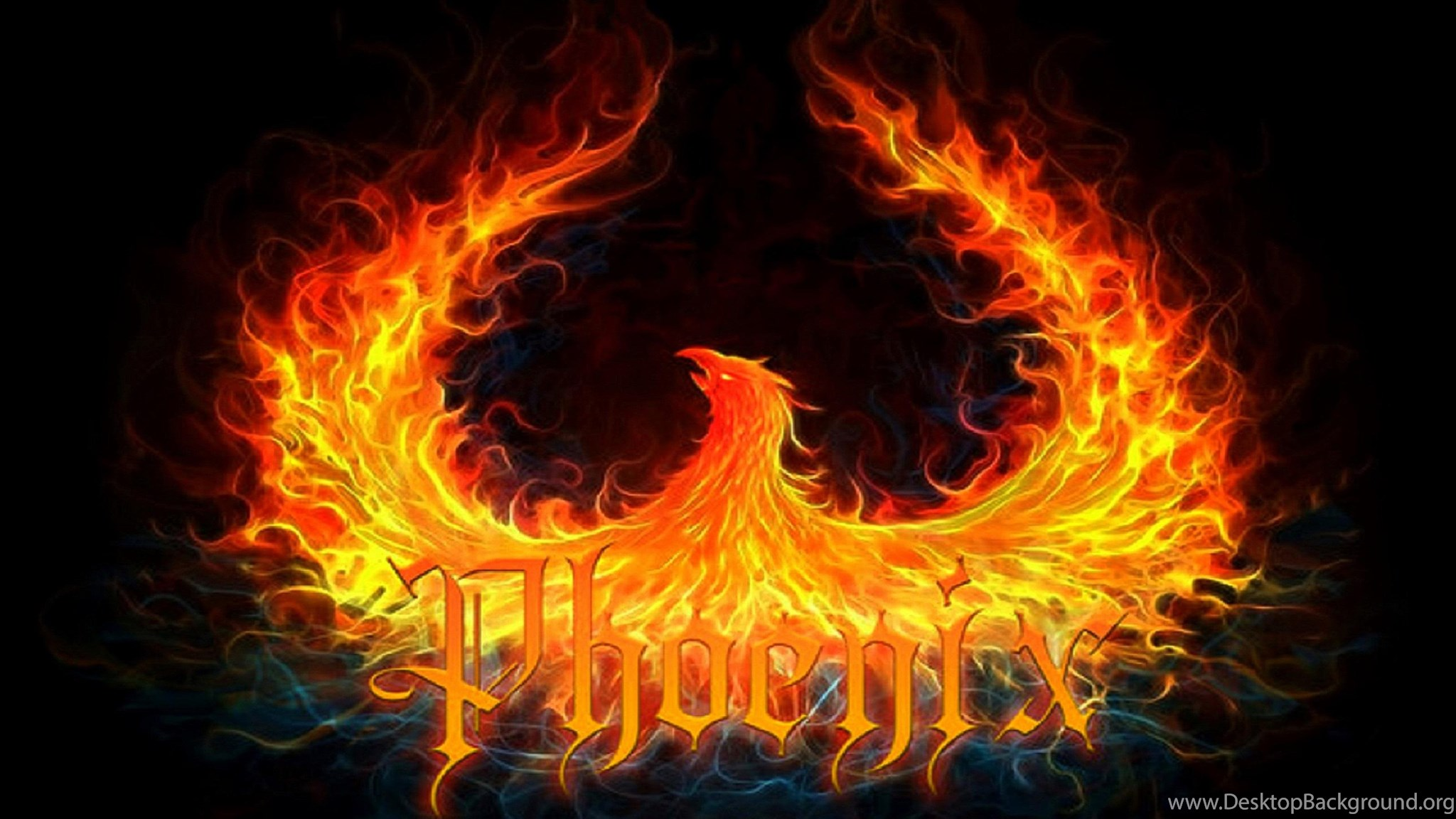 Phoenix Flames Logo ( Desktop Background