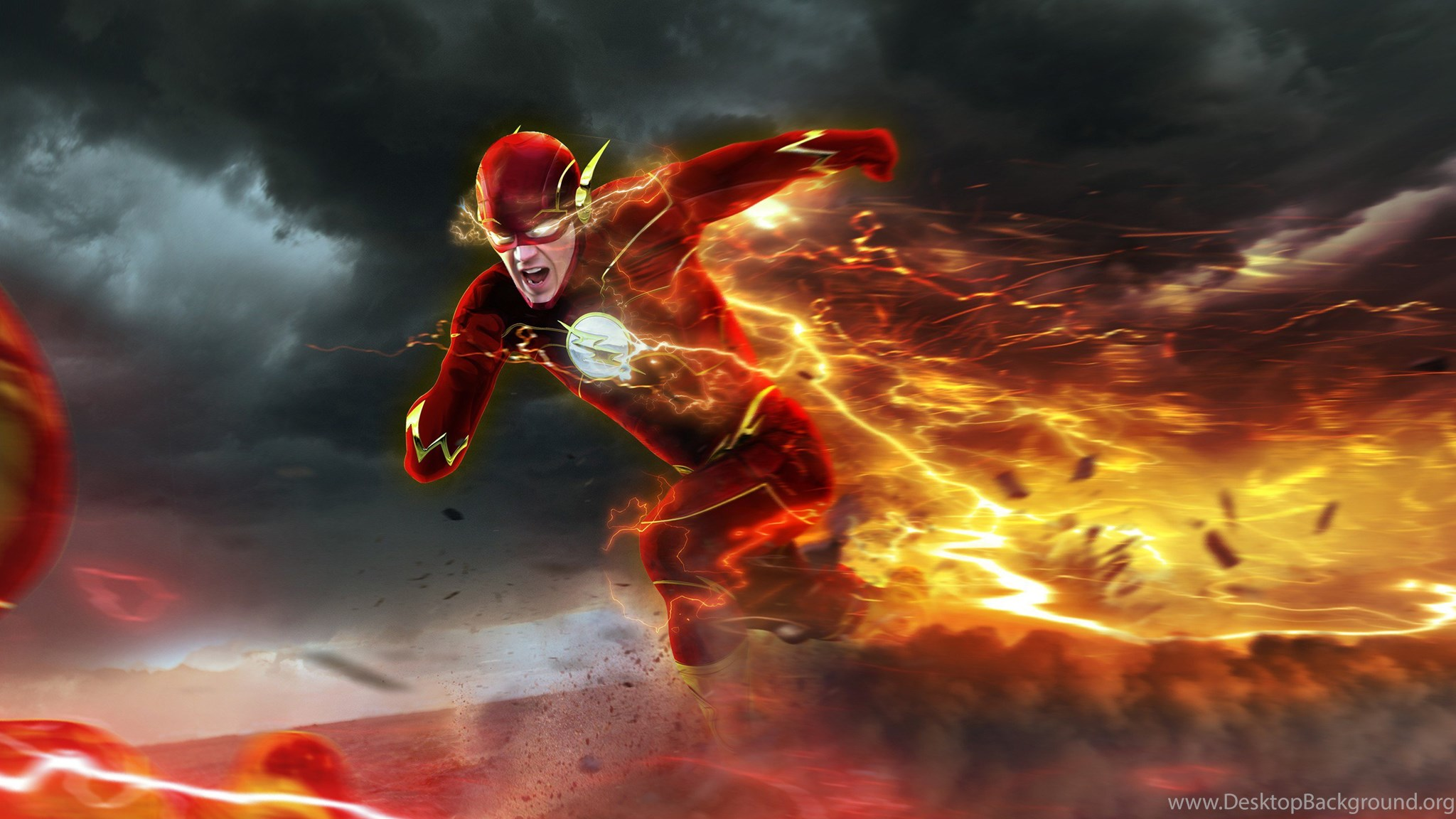 Download Barry Allen In Flash Hd Wallpapers In 2048x1152 Screen