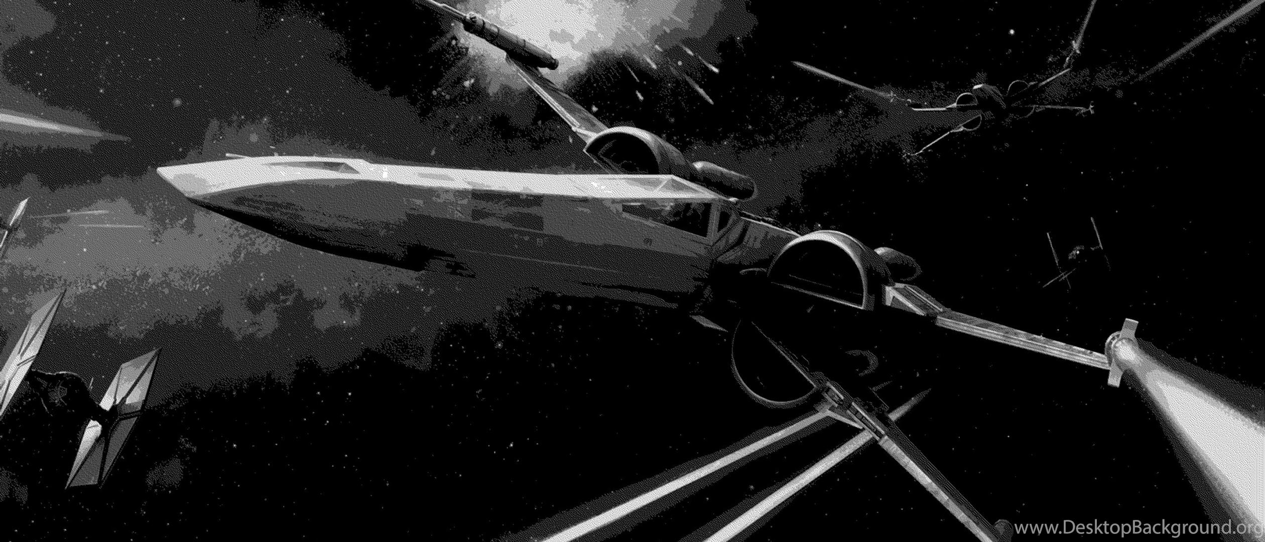 Space Spaceship X Wing Star Wars Wallpapers Hd Desktop Background