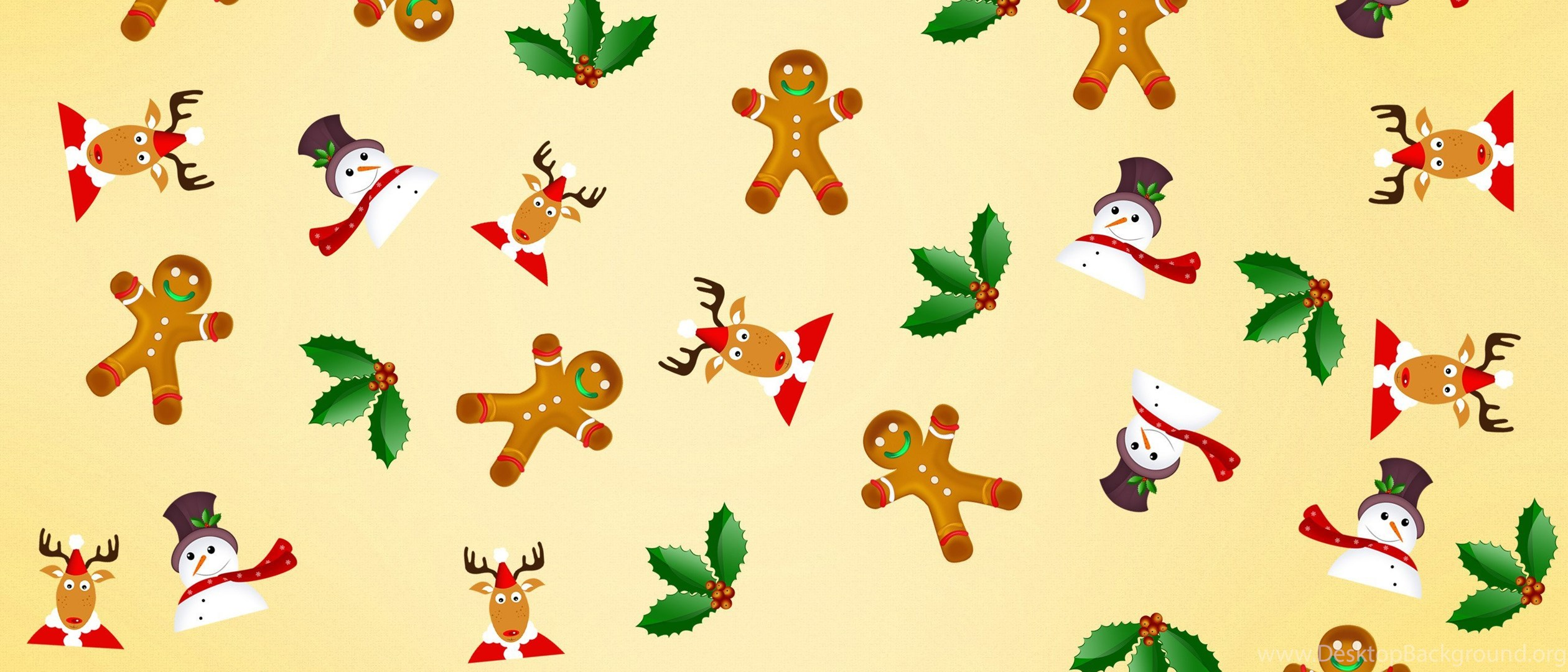 Snowman And Gingerbread Man Wallpapers WallDevil Best Free HD