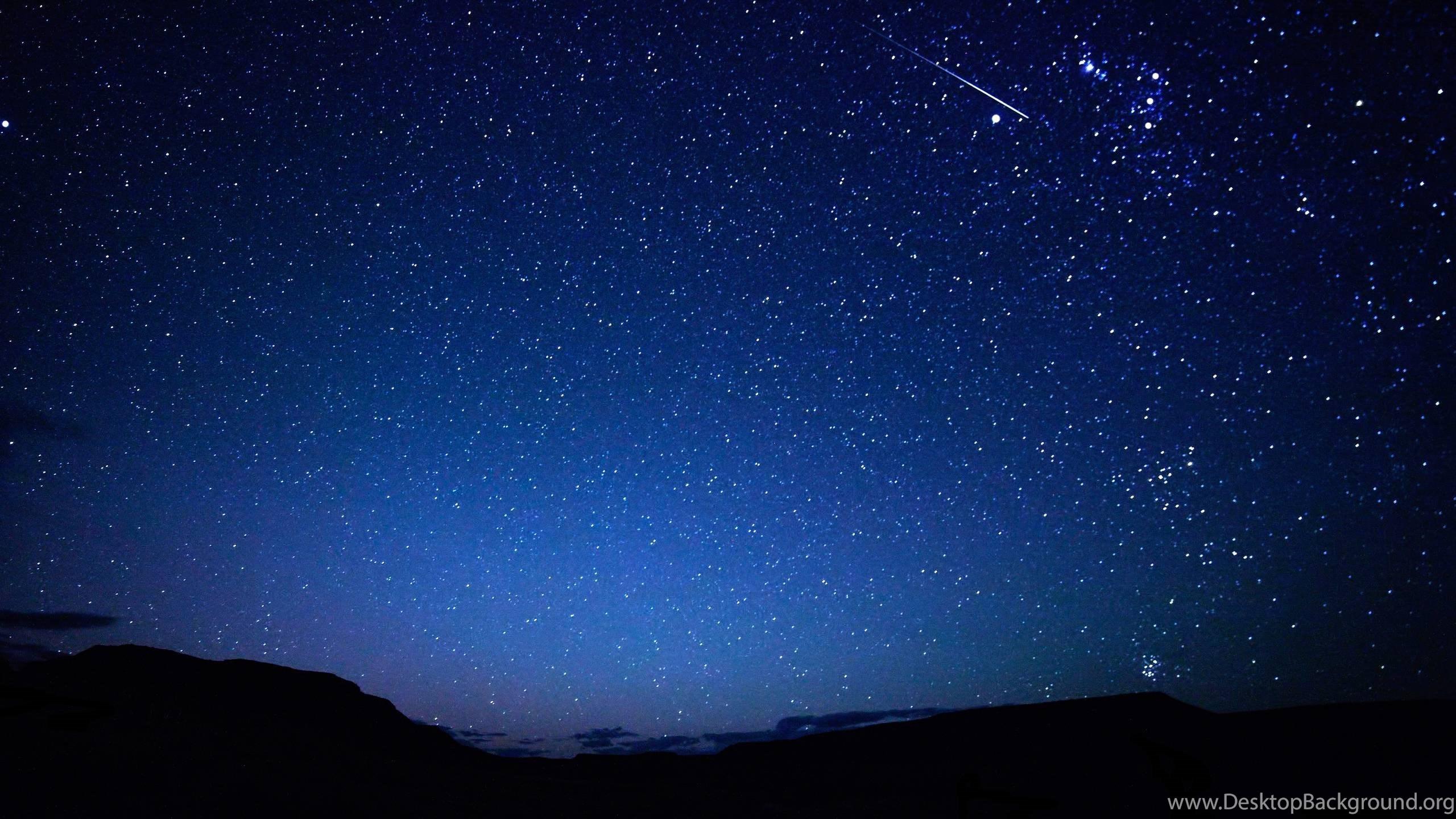 night sky stars wallpapers desktop background