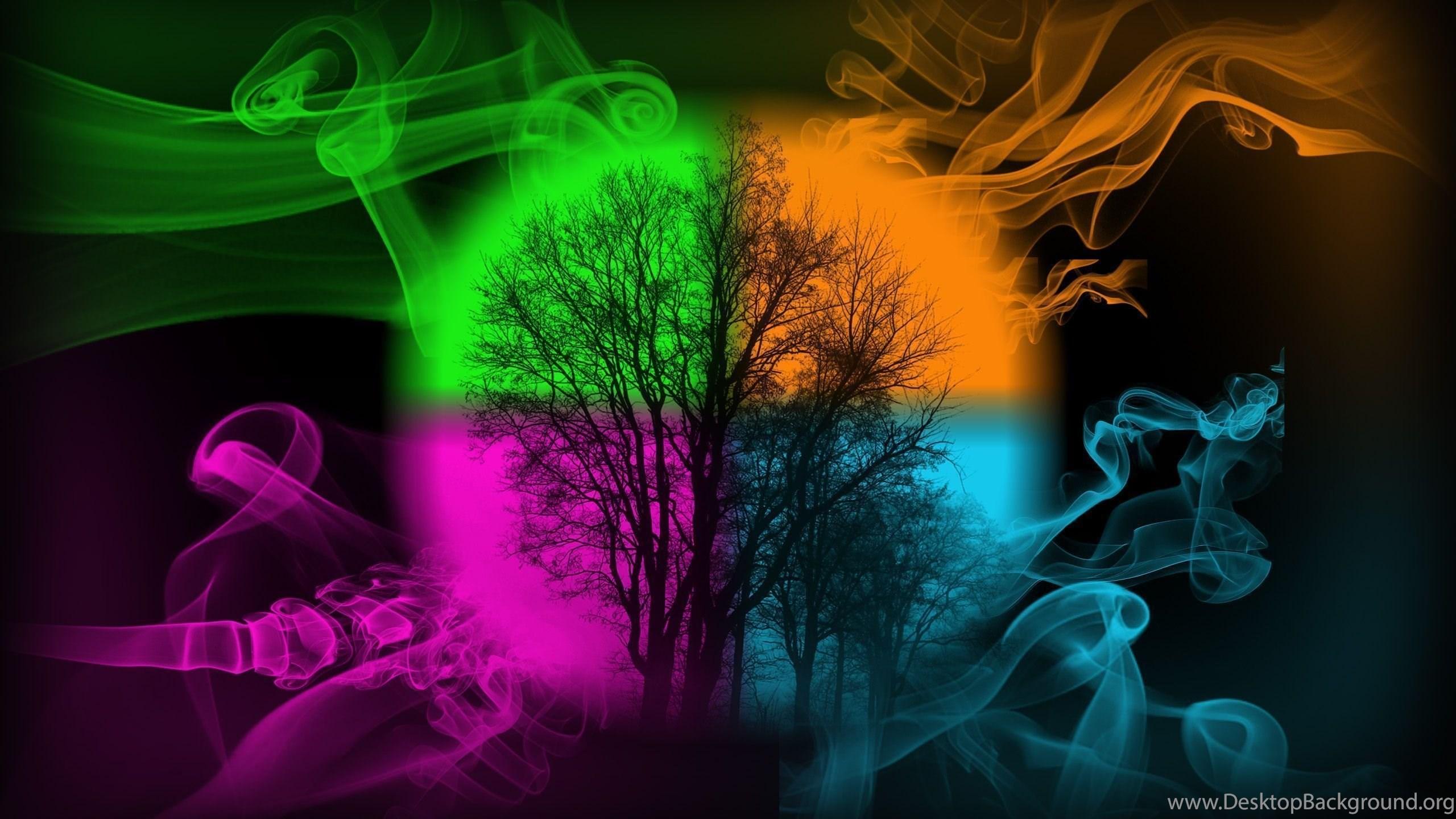 wallpapers colorful smokemeronol on deviantart desktop background