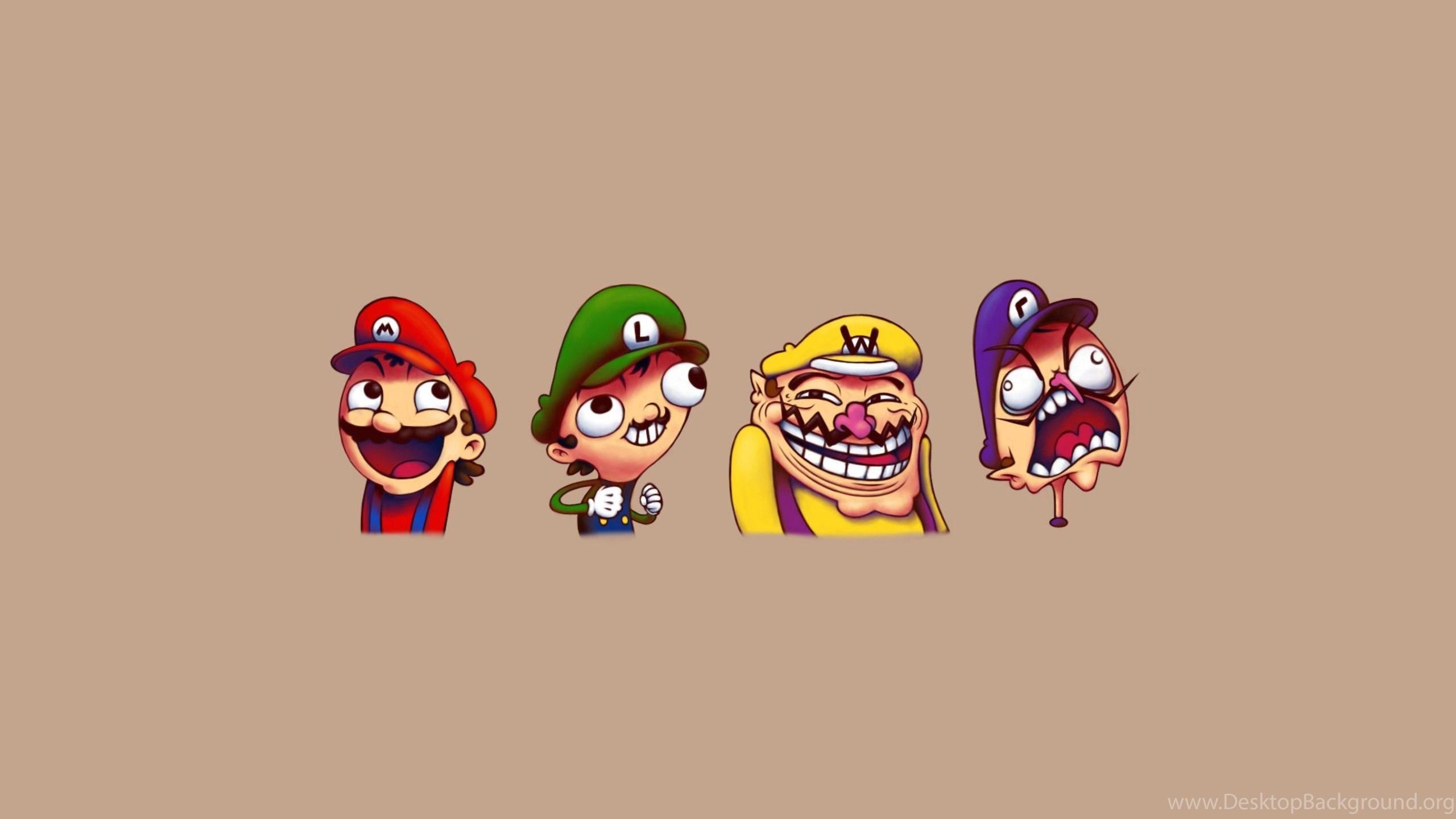 Super mario troll face wallpapers desktop background netbook voltagebd Choice Image