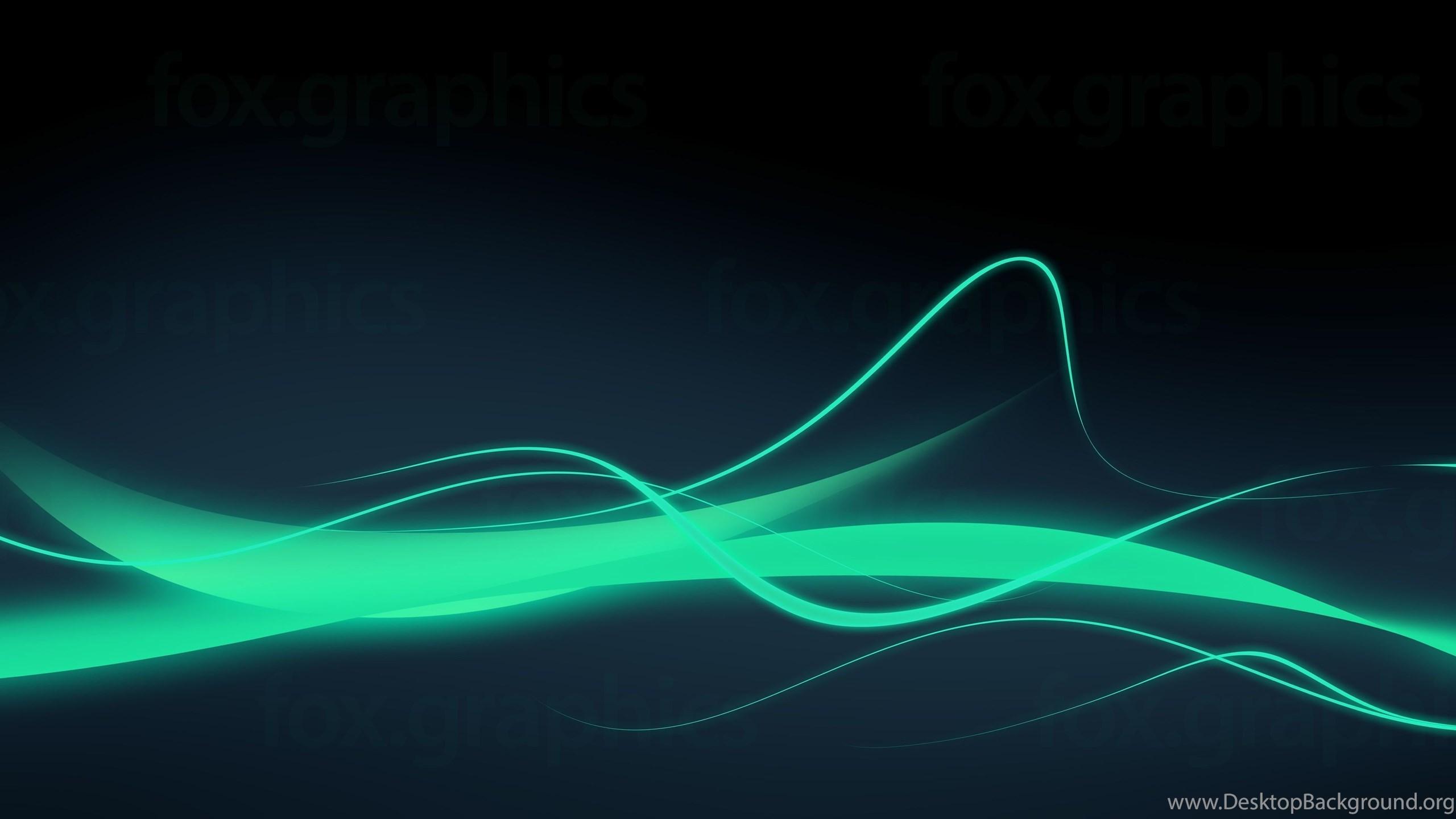 Green Neon Backgrounds Fox Graphics Desktop Background