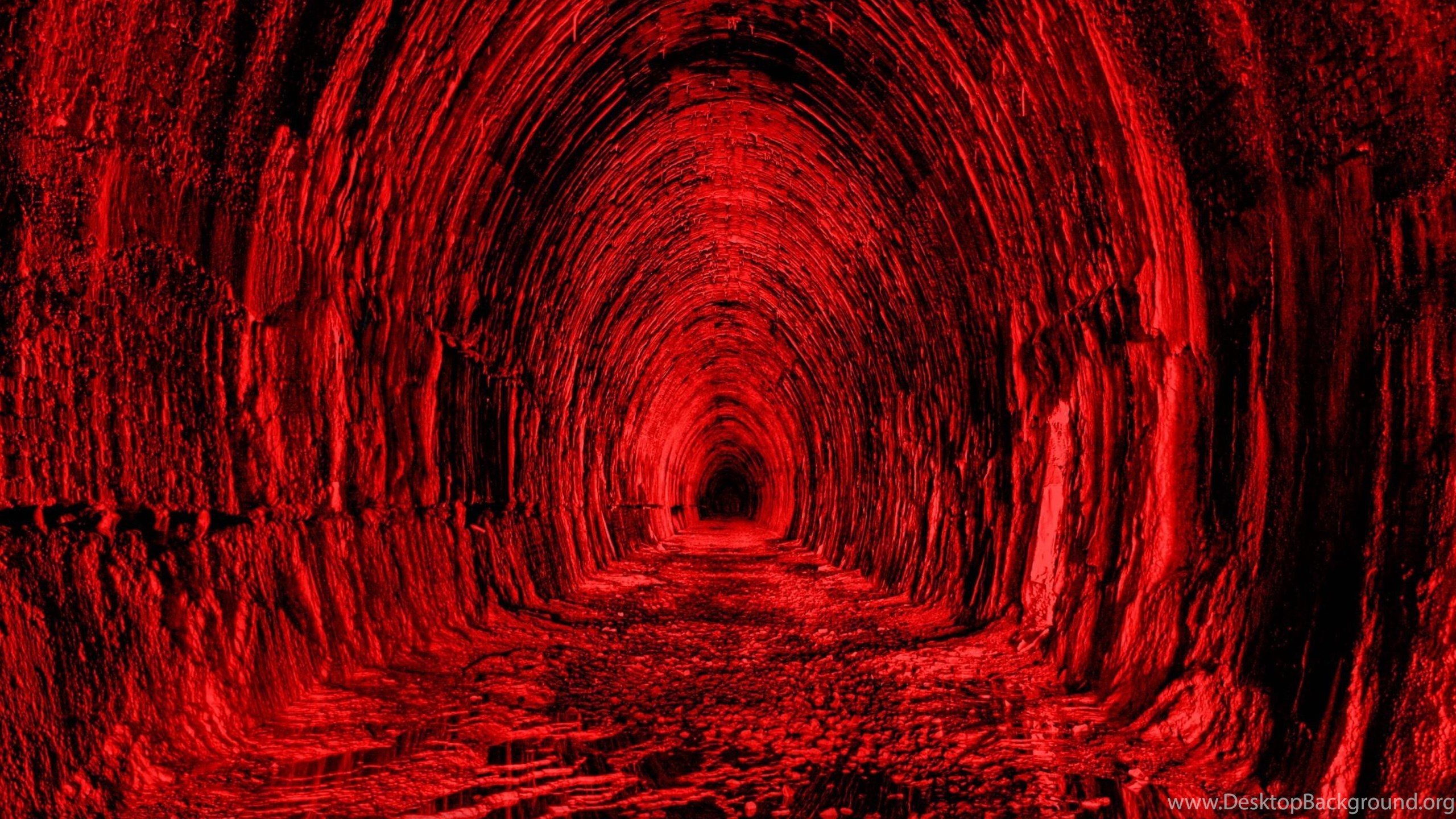 Download Wallpapers 3840x2400 Tunnel Red Black Light Ultra Hd 4k