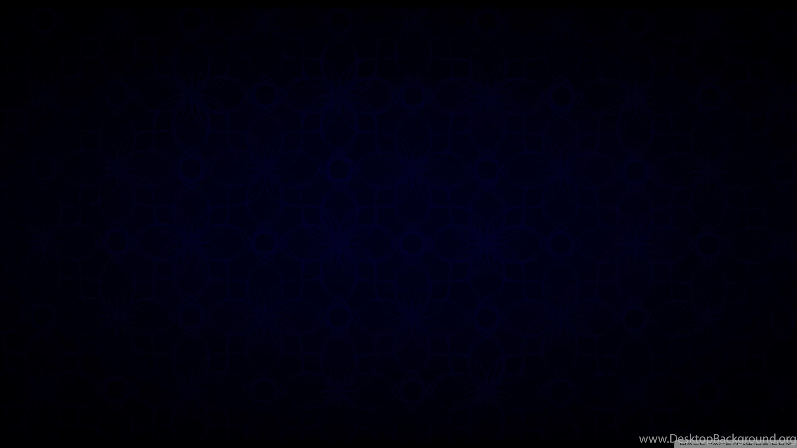 Dark Blue Vintage Pattern Black 2560x1440 Hd Wallpapers And