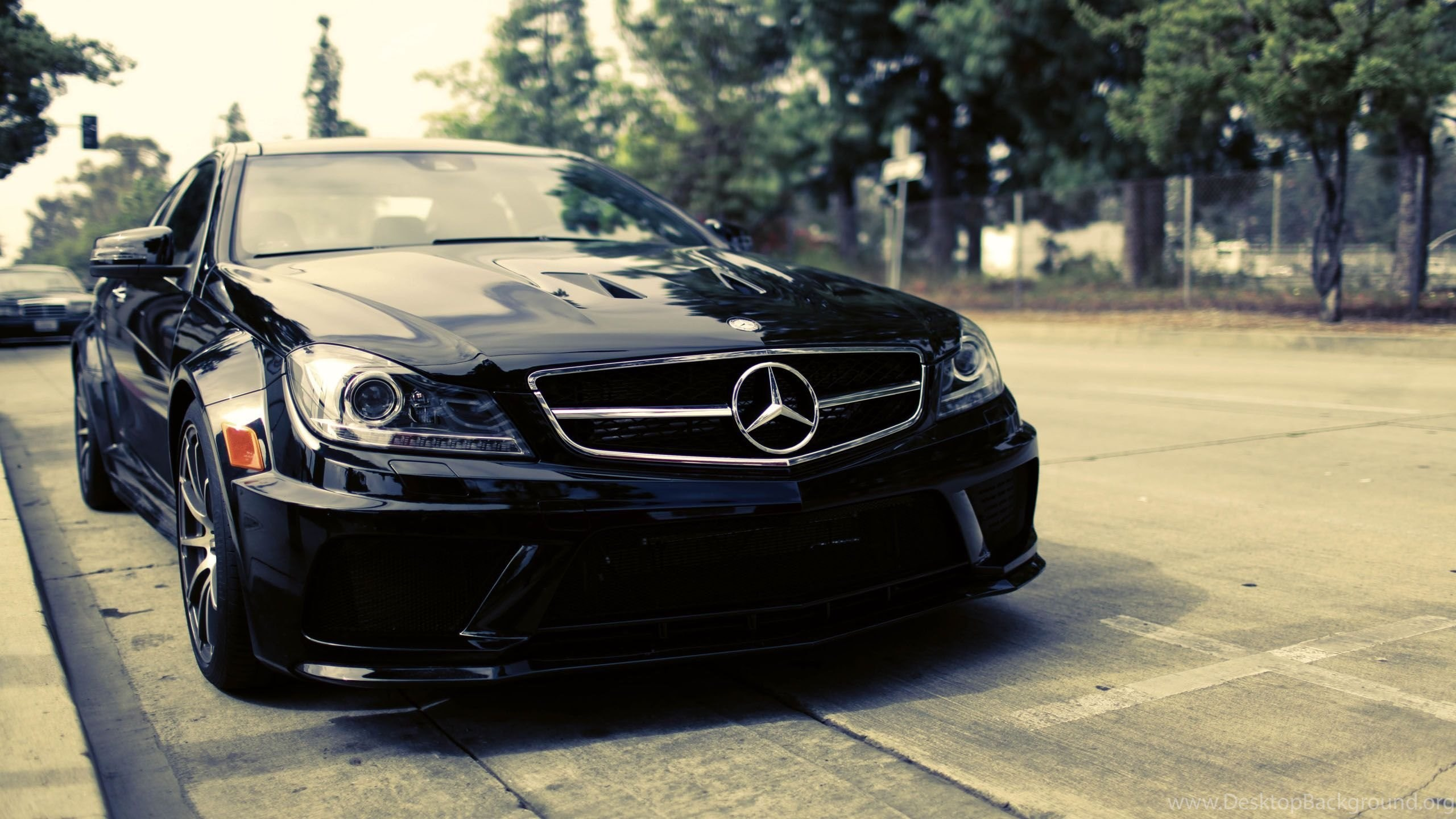 Mercedes Benz Black Car Wallpapers Hd Desktop Background