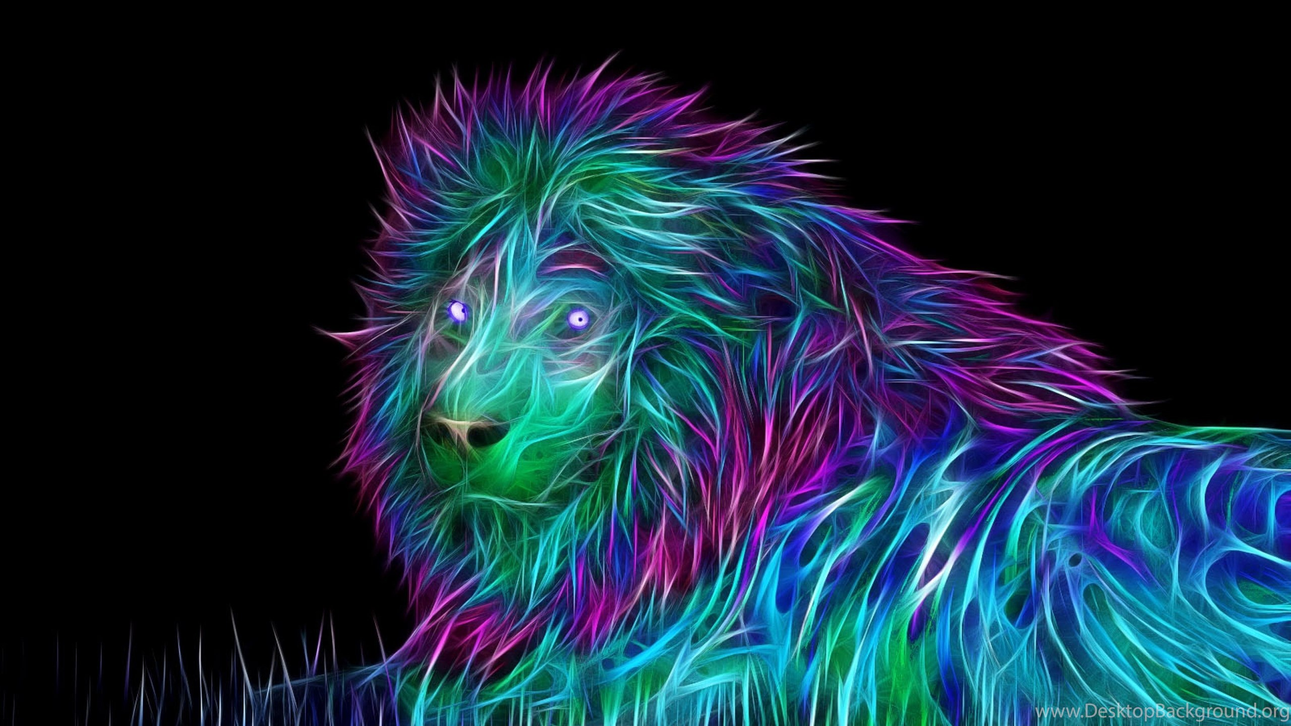 Download Wallpapers 3840x2160 Abstract, 3d, Art, Lion 4K ...