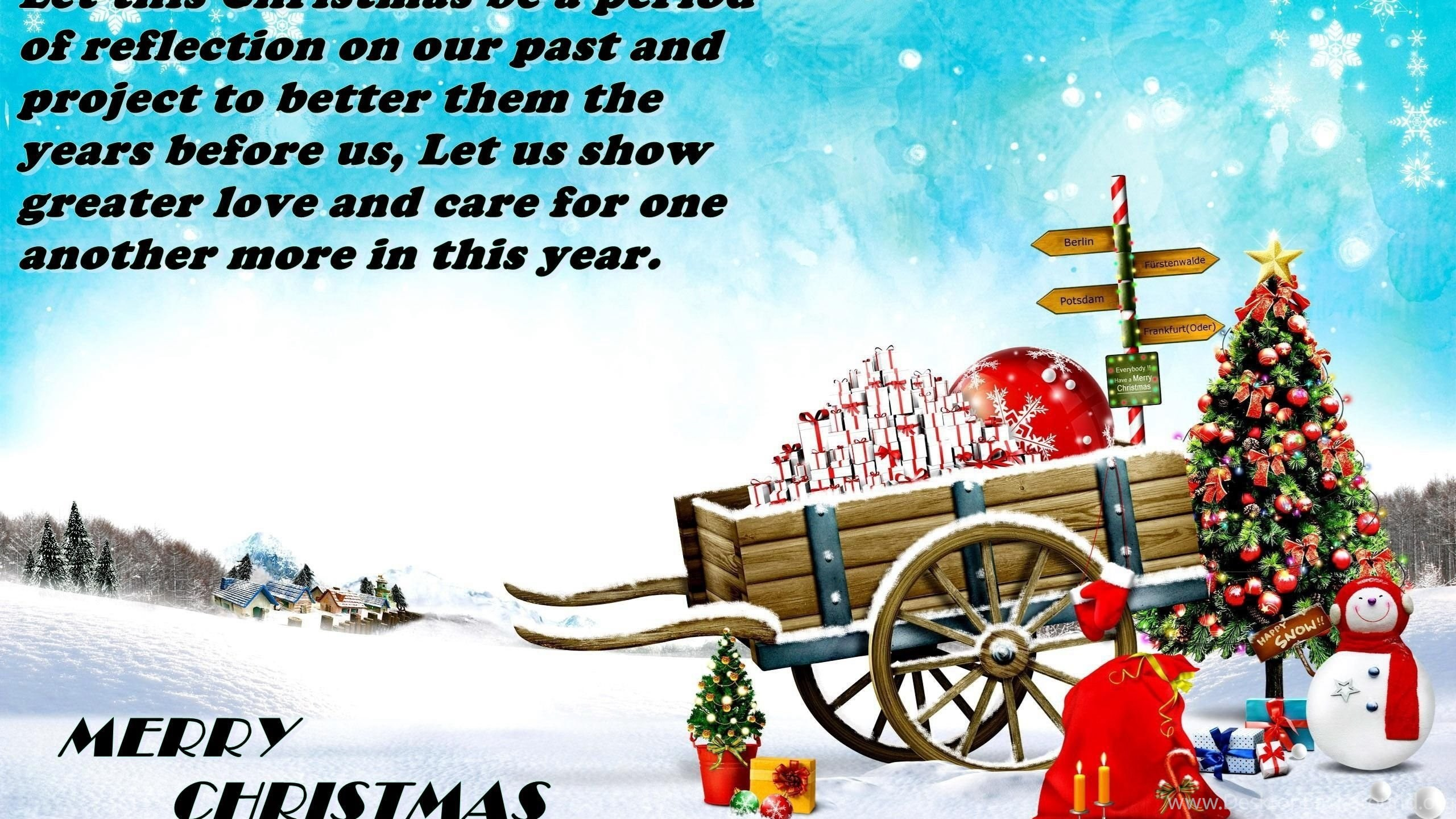 Happy Xmas Greetings Sms Text Messages Desktop Background