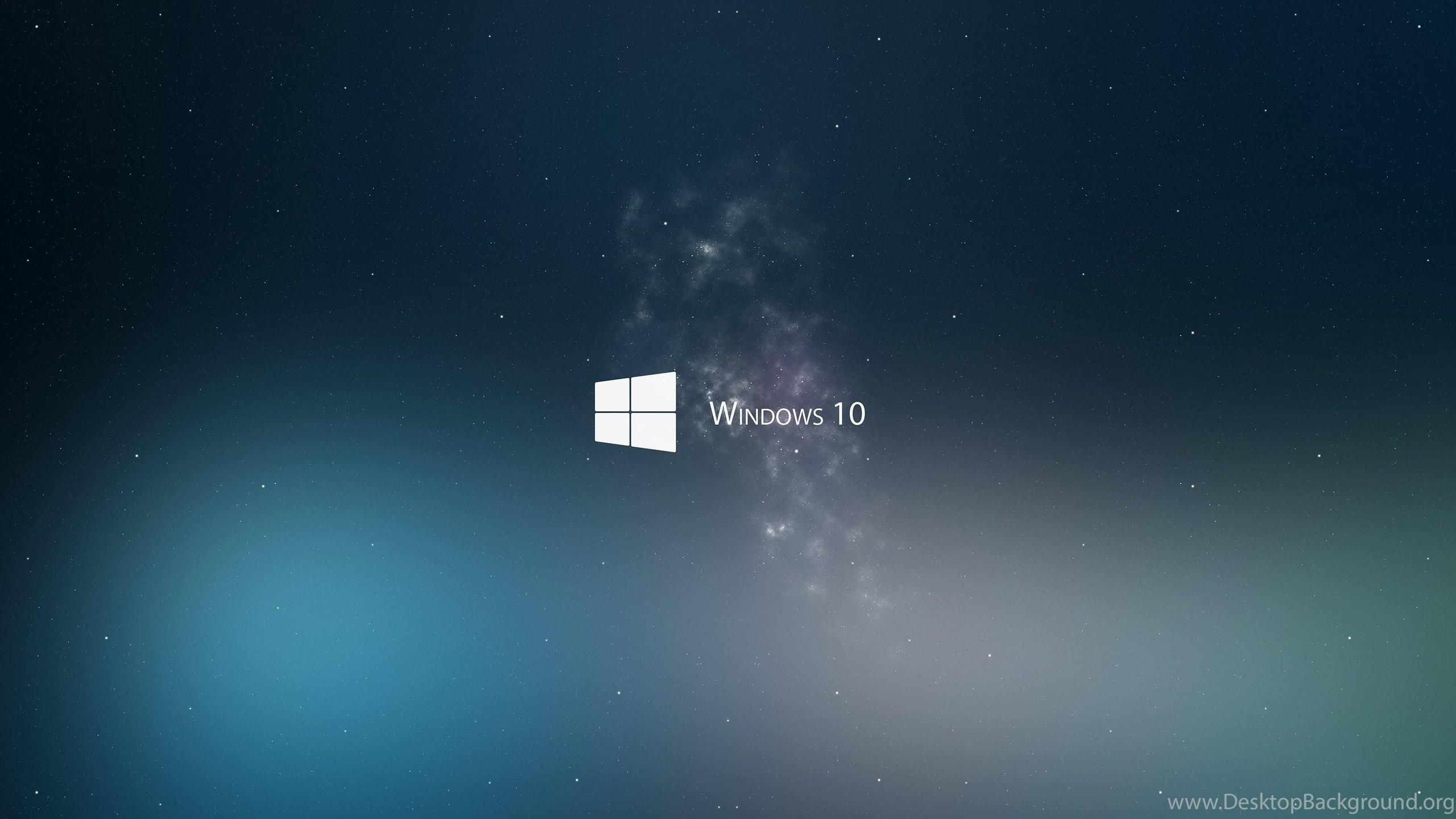 white windows 10 logo in space 4k wallpapers desktop background