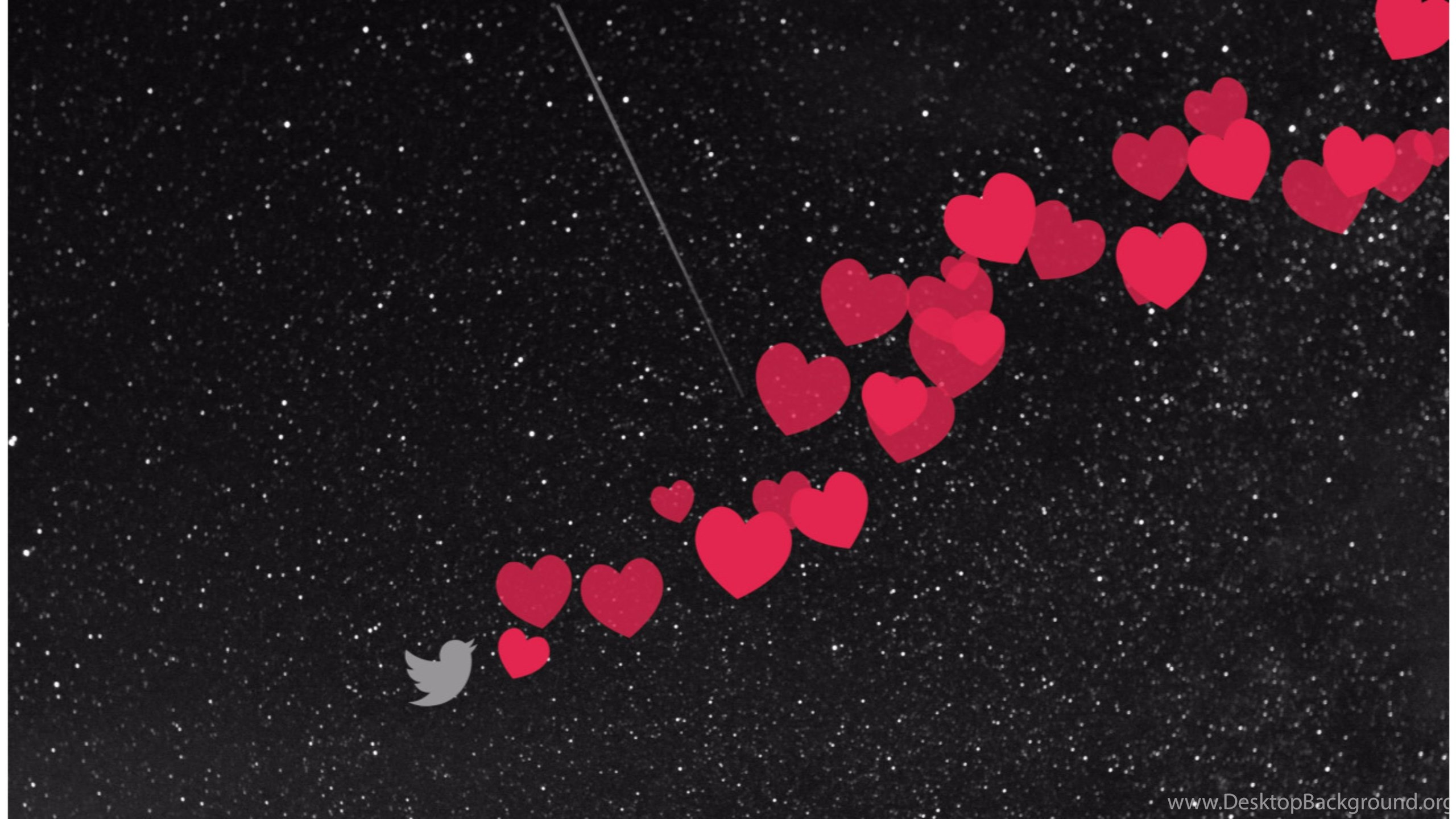 Flying hearts 4k love wallpapers desktop background - I love you 4k ...
