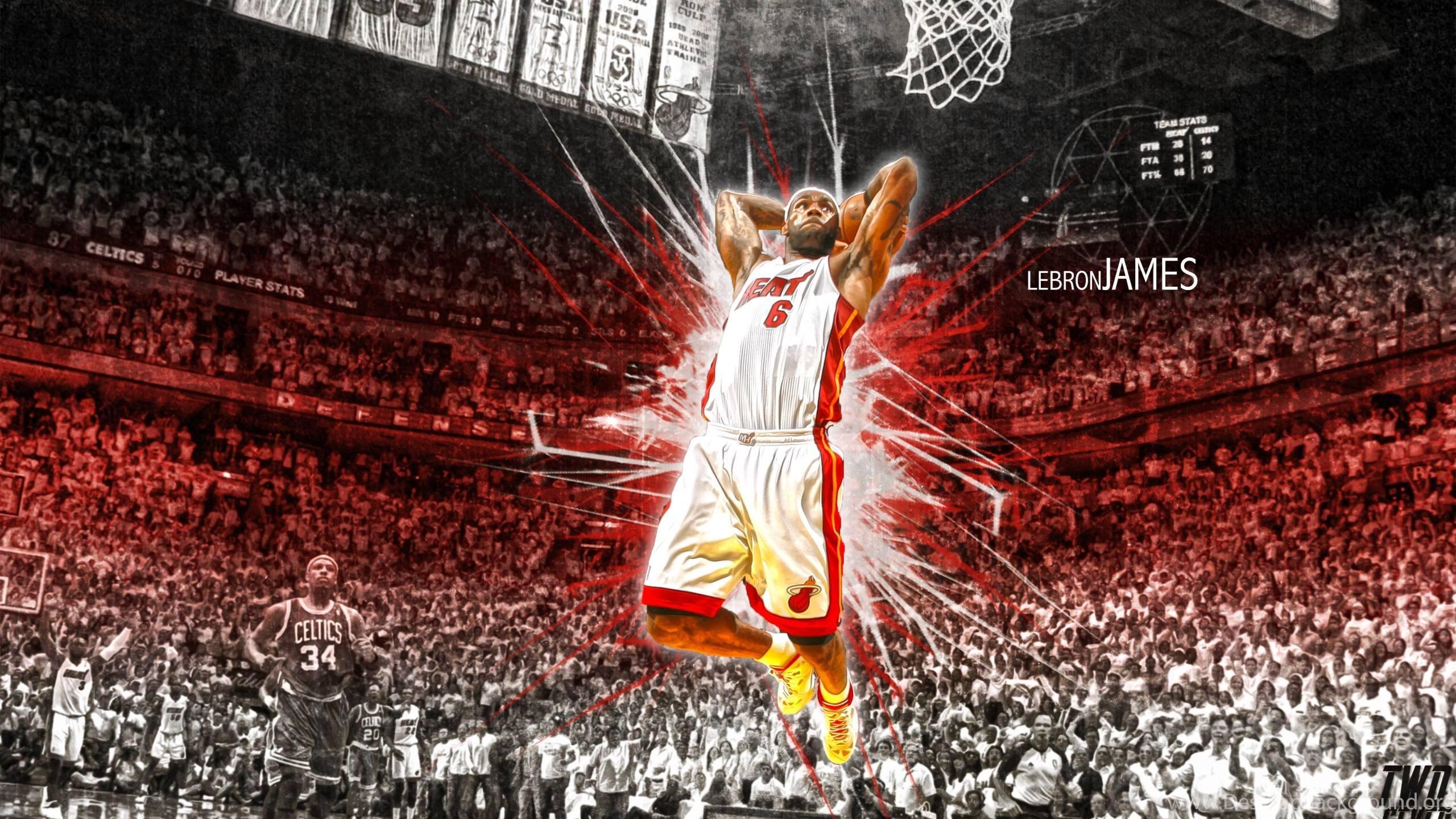Lebron James Miami Heat Wallpapers For Desktop Background