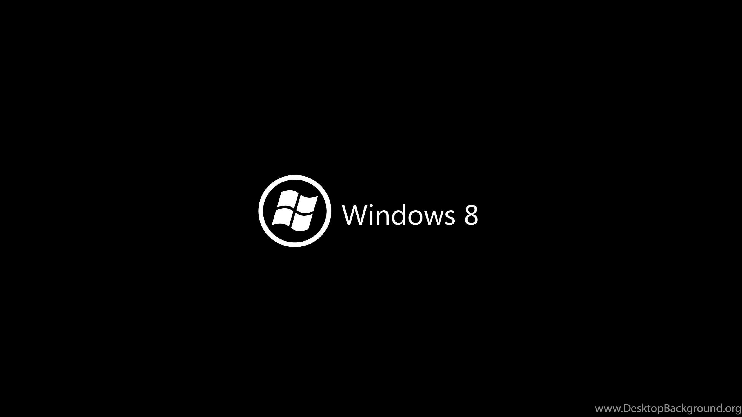 Windows 8 Logo Black Wallpaper Desktop Background