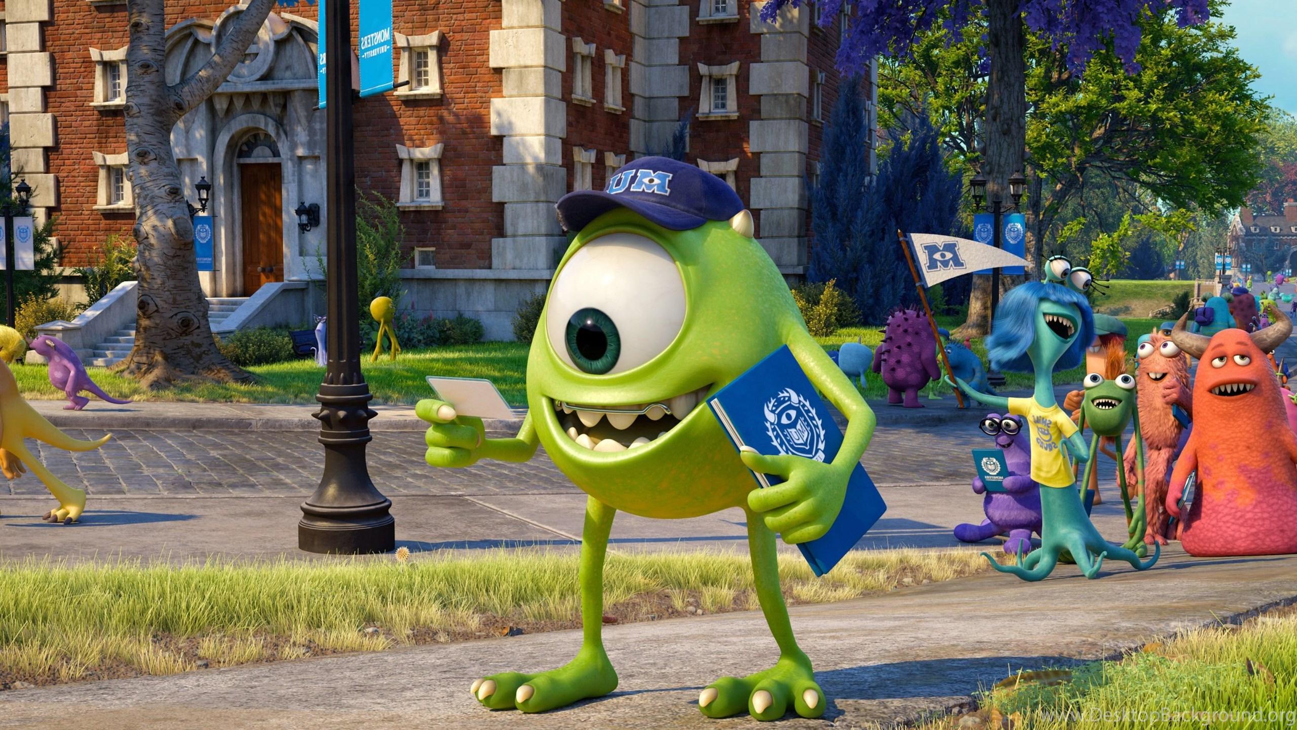 Disney pixar cartoon movie monsters university wallpaper hdg netbook voltagebd Images