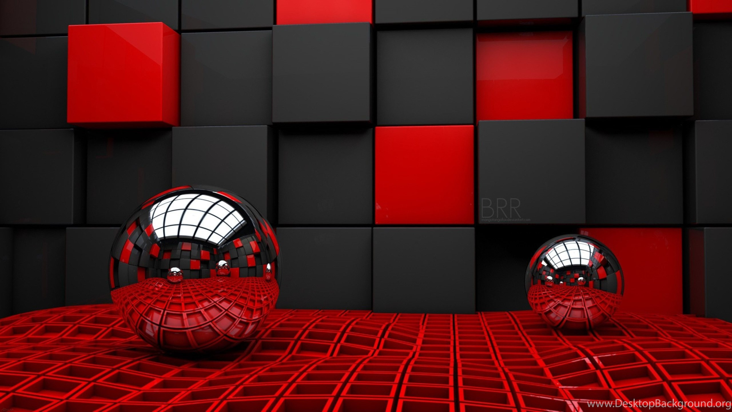 Glass Ball And Cubes 3d Wallpapers Hd Desktop Background