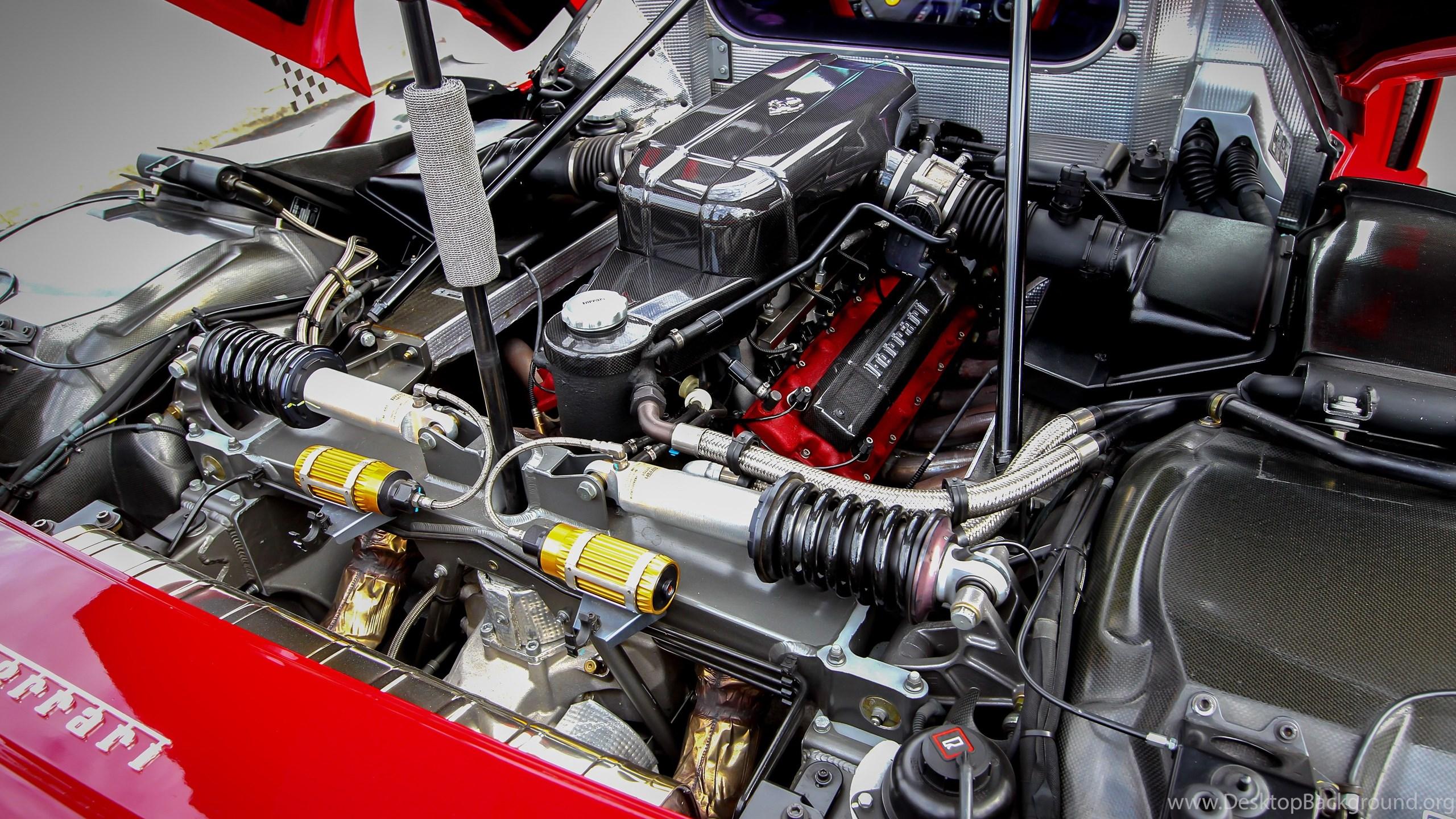 Ferrari F50 Engine Image Desktop Background