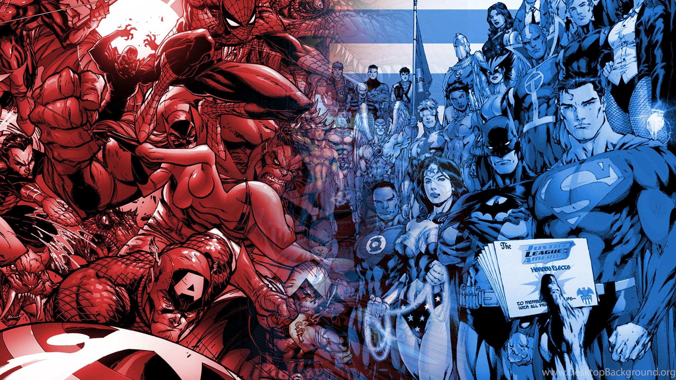 Theres No Winner When Race Marvel Vs DC Desktop