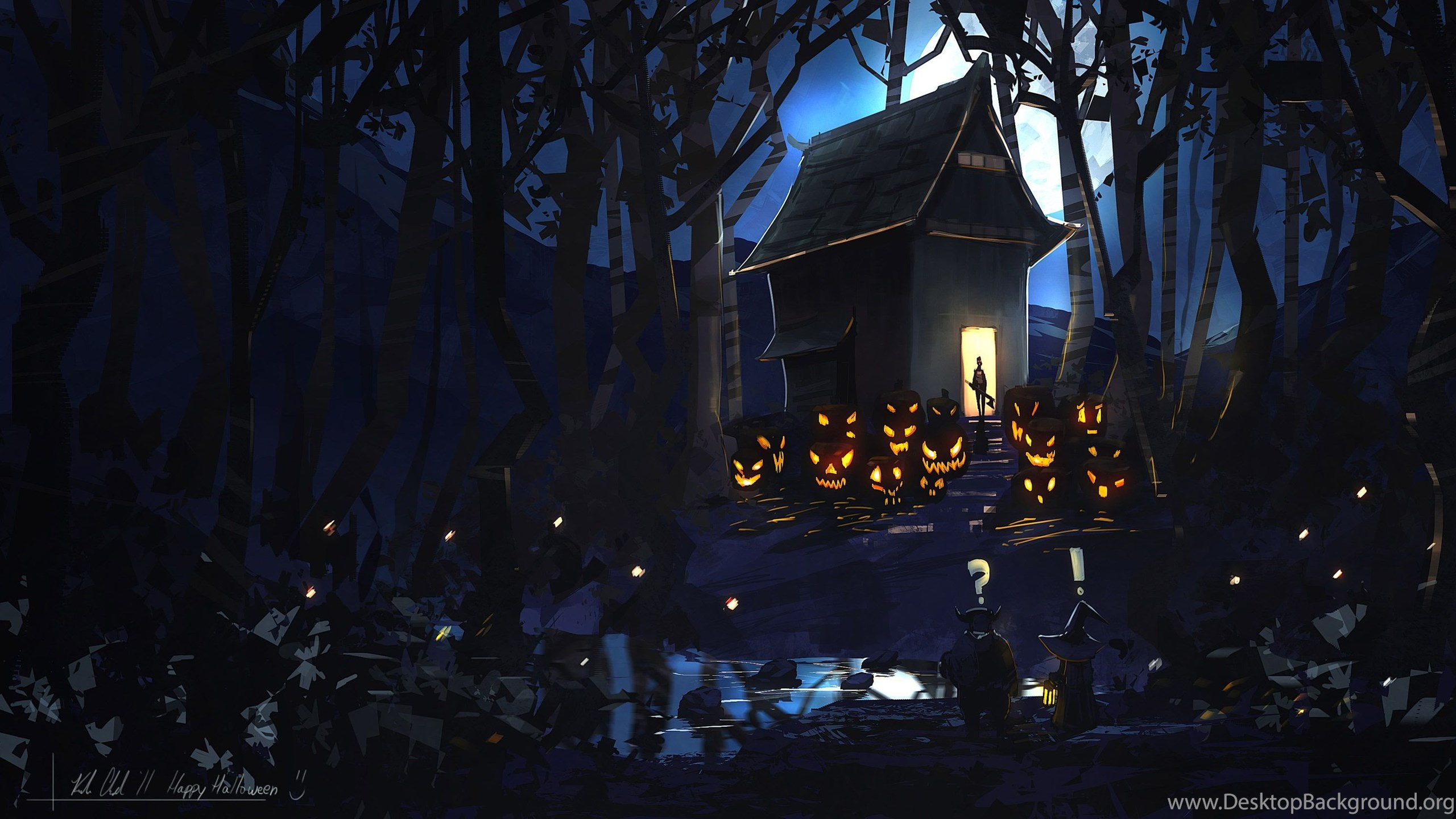 Halloween scary wallpapers wallpapers cave desktop background netbook voltagebd Choice Image