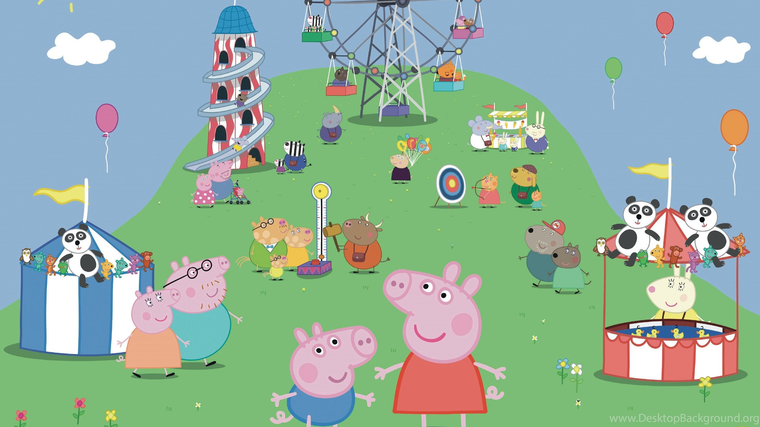Peppa Pig Wall Mural Desktop Background
