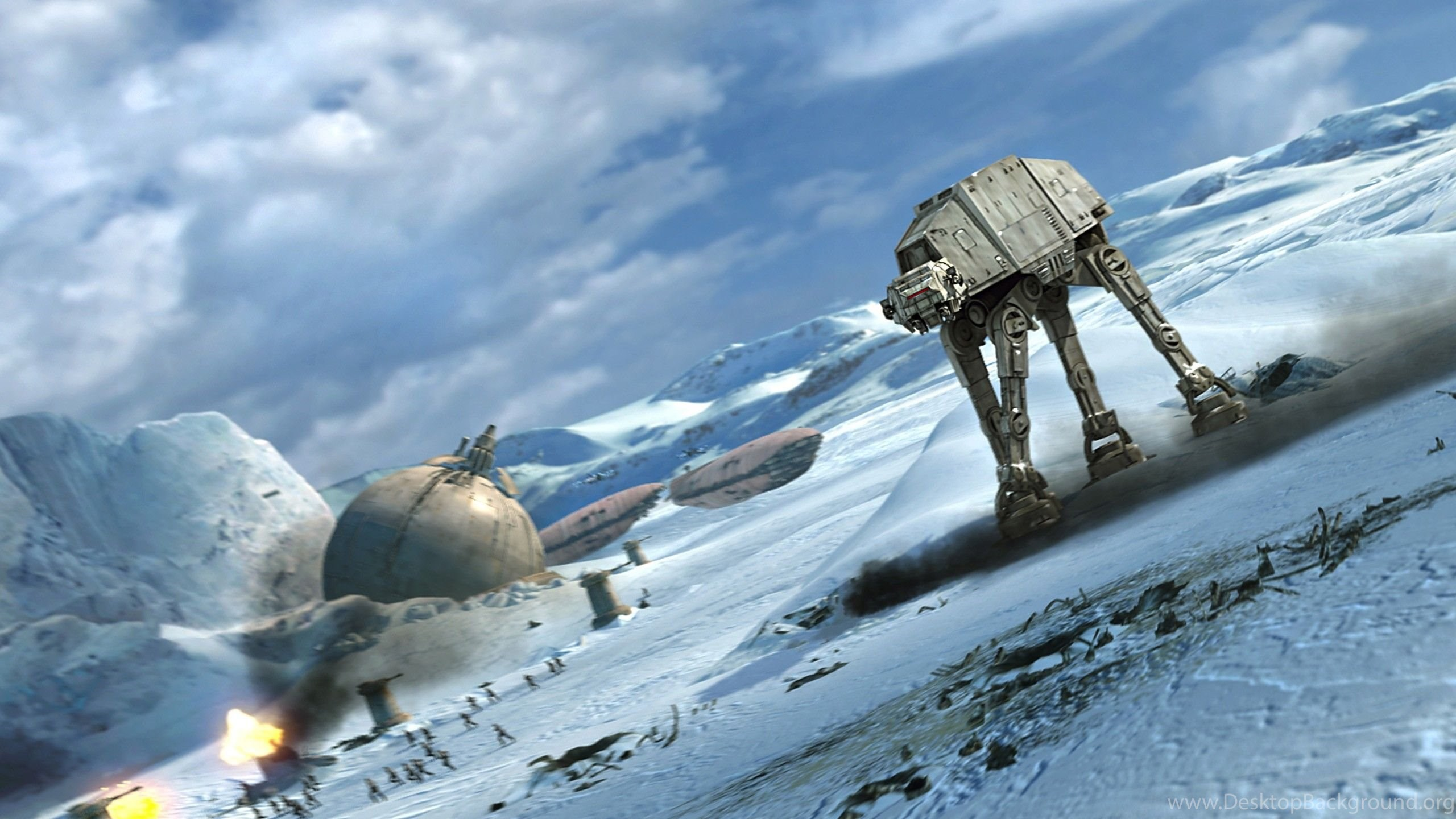 Star Wars Battle Hoth At At Wallpapers Desktop Background